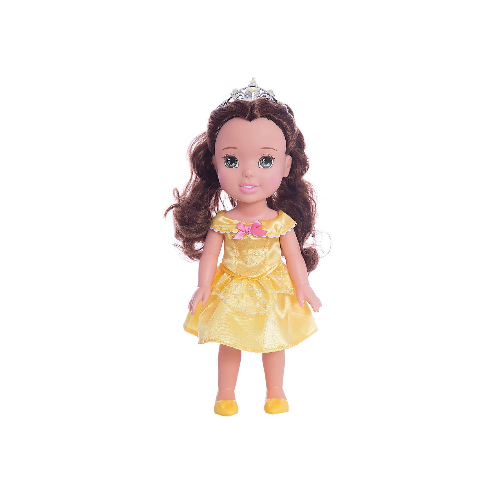 Кукла-малышка Принцессы Диснея Белль, 31 см.Популярные игрушки<br>Кукла Белль, 31 см<br><br>Характеристики:<br><br>- В комплекте: кукла, тиара<br>- Высота куклы: 31 см.<br>- Материал: пластик, текстиль<br>- Особенности: настоящие мягкие волосы<br>- Упаковка: картонная коробка с дисплеем<br><br>Кукла-малышка Белль создана по мотивам популярного мультсериала Дисней «Красавица и Чудовище» и наверняка понравится каждой его поклоннице! Маленькая принцесса Дисней одета в нарядное атласное платье желтого цвета, украшенное розовым бантиком, которое сочетается с удобными туфельками и маленькой изящной тиарой. У куклы шикарные шелковистые темные волосы, из которых можно создавать самые разные прически. Кукла выполнена из высококачественных материалов, выглядит очень мило.<br><br>Куклу Белль, 31 см, Холодное сердце купить в нашем интернет-магазине.<br><br>Ширина мм: 170<br>Глубина мм: 350<br>Высота мм: 120<br>Вес г: 605<br>Возраст от месяцев: 36<br>Возраст до месяцев: 2147483647<br>Пол: Женский<br>Возраст: Детский<br>SKU: 5156892