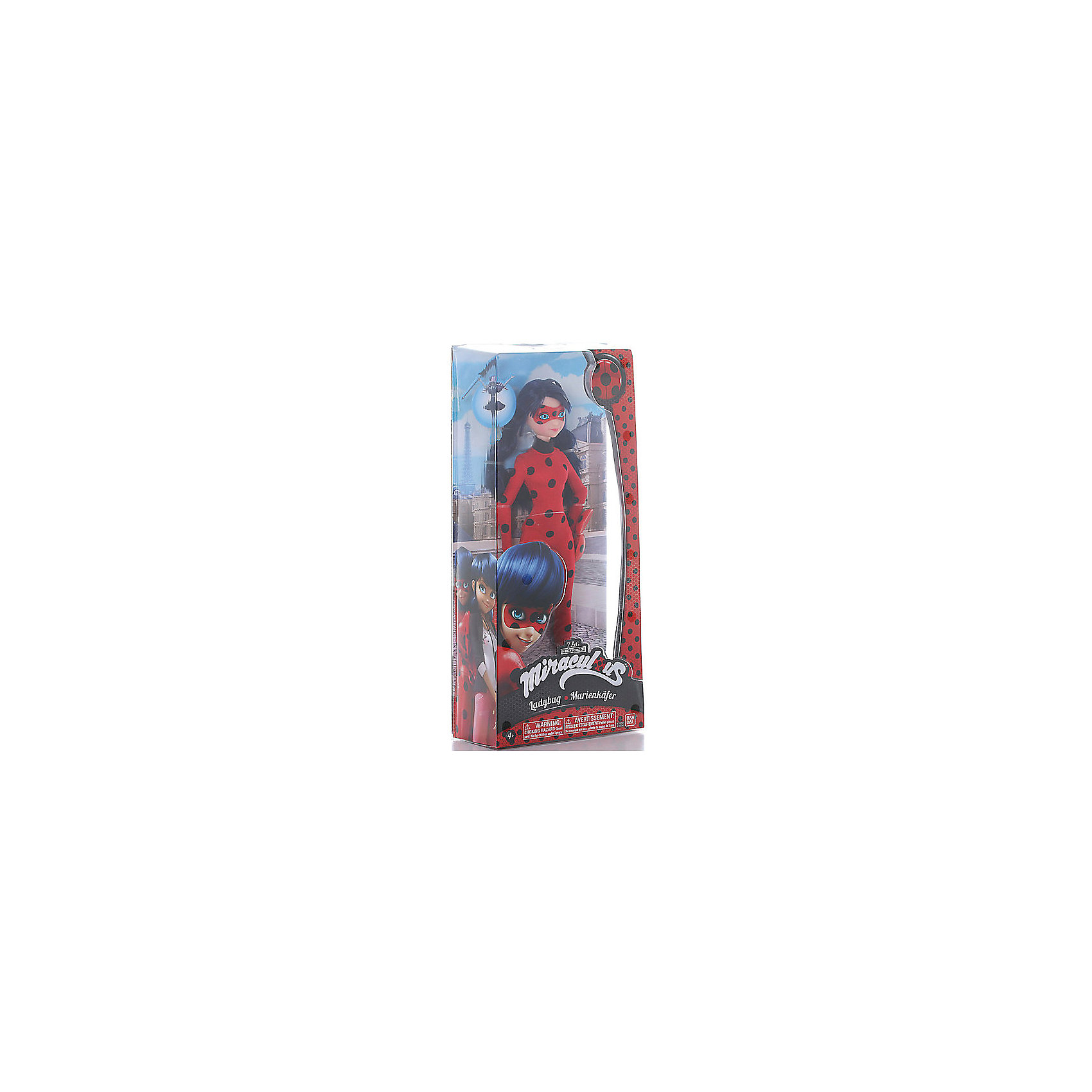 Кукла Леди Баг и Супер-Кот, Леди Баг 26 смКукла Леди Баг, 26 см, Леди Баг и Супер-Кот.<br><br>Характеристики:<br><br>- Высота куклы: 26 см.<br>- Материал: пластик, текстиль<br>- Размер упаковки: 15,2 х 6,4 х 34,3 см.<br><br>Кукла Леди Баг создана на основе популярного детского мультфильма Леди Баг и Супер-Кот, сюжет которого посвящен приключениям двух юных супергероев в современном Париже. Кукла выполнена в виде героини мультфильма Маринетт Дюпэн-Чэн в образе Леди Баг. Кукла одета в костюм божьей коровки ярко-красного цвета в чёрный горошек. Волосы темно синего цвета собраны в хвостики. Маска частично скрывает лицо куклы. Очень выразительно сделаны большие глаза куклы, смотрящие из-под маски. В руках она держит знаменитый телефон-гаджет, благодаря которому Баг с легкостью взбирается на стены, связывает преступников и общается с другими коллегами супергероями. Кукла выполнена из качественного пластика, руки и ноги подвижны.<br><br>Куклу Леди Баг, 26 см, Леди Баг и Супер-Кот купить в нашем интернет-магазине.<br><br>Ширина мм: 64<br>Глубина мм: 343<br>Высота мм: 152<br>Вес г: 318<br>Возраст от месяцев: 48<br>Возраст до месяцев: 2147483647<br>Пол: Женский<br>Возраст: Детский<br>SKU: 5158102