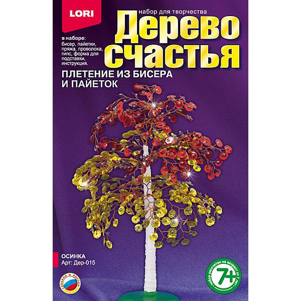 Дерево счастья ОсинкаДеревья и картины из пайеток<br>Характеристики товара:<br><br>• цвет: разноцветный<br>• размер упаковки: 13х20х4 см<br>• вес: 190 г<br>• комплектация: бисер, акриловые бусины, пайетки, пряжа коричневая, проволока, гипс, полистирольная форма для заливки гипса, подробная инструкция<br>• возраст: от семи лет<br>• упаковка: картонная коробка<br>• страна бренда: РФ<br>• страна изготовитель: РФ<br><br>Творчество - это увлекательно и полезно! Такой набор станет отличным подарком ребенку - ведь с помощью него можно получить красивое дерево счастья! В набор входит бисер, акриловые бусины, пайетки, пряжа коричневая, проволока, гипс, полистирольная форма для заливки гипса, подробная инструкция. Чтобы сделать дерево, ребенку нужно заполнить следовать указаниям инструкции. В итоге получается украшение для интерьера или подарок родным.<br>Детям очень нравится что-то делать своими руками! Кроме того, творчество помогает детям развивать важные навыки и способности, оно активизирует мышление, формирует усидчивость, творческие способности, мелкую моторику и воображение. Изделие производится из качественных и проверенных материалов, которые безопасны для детей.<br><br>Набор Дерево счастья Осинка от бренда LORI можно купить в нашем интернет-магазине.<br><br>Ширина мм: 208<br>Глубина мм: 135<br>Высота мм: 40<br>Вес г: 181<br>Возраст от месяцев: 84<br>Возраст до месяцев: 144<br>Пол: Женский<br>Возраст: Детский<br>SKU: 5158194