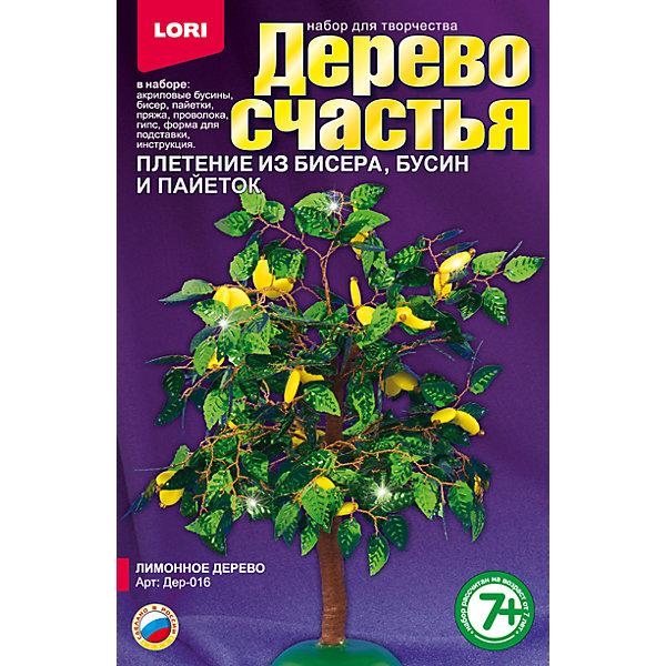 Дерево счастья Лимонное деревоДеревья и картины из пайеток<br>Характеристики товара:<br><br>• цвет: разноцветный<br>• размер упаковки: 13х20х4 см<br>• вес: 190 г<br>• комплектация: бисер, акриловые бусины, пайетки, пряжа коричневая, проволока, гипс, полистирольная форма для заливки гипса, подробная инструкция<br>• возраст: от семи лет<br>• упаковка: картонная коробка<br>• страна бренда: РФ<br>• страна изготовитель: РФ<br><br>Творчество - это увлекательно и полезно! Такой набор станет отличным подарком ребенку - ведь с помощью него можно получить красивое дерево счастья! В набор входит бисер, акриловые бусины, пайетки, пряжа коричневая, проволока, гипс, полистирольная форма для заливки гипса, подробная инструкция. Чтобы сделать дерево, ребенку нужно заполнить следовать указаниям инструкции. В итоге получается украшение для интерьера или подарок родным.<br>Детям очень нравится что-то делать своими руками! Кроме того, творчество помогает детям развивать важные навыки и способности, оно активизирует мышление, формирует усидчивость, творческие способности, мелкую моторику и воображение. Изделие производится из качественных и проверенных материалов, которые безопасны для детей.<br><br>Набор Дерево счастья Лимонное дерево от бренда LORI можно купить в нашем интернет-магазине.<br>Ширина мм: 208; Глубина мм: 135; Высота мм: 40; Вес г: 181; Возраст от месяцев: 84; Возраст до месяцев: 144; Пол: Женский; Возраст: Детский; SKU: 5158195;
