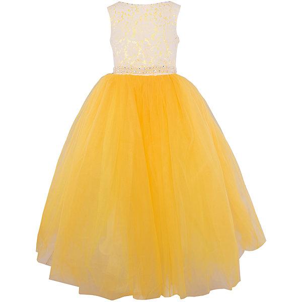 Платье нарядное ПрестижОдежда<br>Платье для девочки Престиж<br><br><br>Характеристики:<br><br>• длинное<br>• без рукавов<br>• цвет: желтый<br>• состав: 100% полиэстер<br><br>Роскошное платье для девочки Престиж отлично подойдет для прекрасного бала или торжества. Лиф на корсете можно утянуть при необходимости. Пышный низ платья дополнен элегантным верхом с кружевом и вышивкой. Кроме того, лиф декорирован бусами и стразами. Пояс на платье завязывается сзади. В таком платье девочка станет самой прекрасной дамой на празднике!<br><br>Платье регулируется шнуровкой сзади, от талии до верха спинки. Шнуровка в комплекте.<br>Платье подходит для занятий бальными танцами.<br><br>Вы можете купить платье для девочки Престиж в нашем интернет-магазине.<br><br>Ширина мм: 236<br>Глубина мм: 16<br>Высота мм: 184<br>Вес г: 177<br>Цвет: желтый<br>Возраст от месяцев: 96<br>Возраст до месяцев: 108<br>Пол: Женский<br>Возраст: Детский<br>Размер: 122,128,116<br>SKU: 5158318
