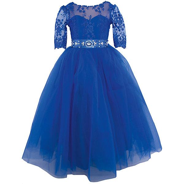 Платье нарядное ПрестижОдежда<br>Характеристики:<br><br>• Вид детской и подростковой одежды: платье<br>• Предназначение: праздничная<br>• Платье подходит для занятий бальными танцами<br>• Коллекция: Veronikaiko<br>• Сезон: круглый год<br>• Тематика рисунка: цветы<br>• Цвет: синий<br>• Материал: 100% полиэстер<br>• Силуэт: А-силуэт<br>• Юбка: солнце<br>• Рукав: 3/4<br>• Вырез горловины: круглый<br>• Длина платья: макси<br>• Застежка: молния на спинке<br>• В комплекте предусмотрен пояс, декорированный стразами<br>• Особенности ухода: ручная стирка при температуре не более 30 градусов<br><br>Платье регулируется шнуровкой сзади, от талии до верха спинки. Шнуровка в комплекте.<br>Платье подходит для занятий бальными танцами.<br><br>Платье нарядное для девочки Престиж от отечественного производителя праздничной одежды и аксессуаров как для взрослых, так и для детей. Изделие выполнено из 100% полиэстера, который обладает легкостью, прочностью, устойчивостью к износу и пятнам.<br><br>Платье отрезное по талии, имеет классический А-силуэт, круглую горловину и пышную юбку макси. Верх платья выполнен в стиле корсета с кружевом и рукавами 3/4. Платье выполнено в ярком красном цвете. В комплекте предусмотрен пояс, декорированный стразами.<br><br>Платье нарядное для девочки Престиж – это неповторимый стиль вашей девочки на любом торжестве!<br><br>Платье нарядное для девочки Престиж можно купить в нашем интернет-магазине.<br>Ширина мм: 236; Глубина мм: 16; Высота мм: 184; Вес г: 177; Цвет: синий; Возраст от месяцев: 72; Возраст до месяцев: 84; Пол: Женский; Возраст: Детский; Размер: 116,140,134,128,122; SKU: 5158356;