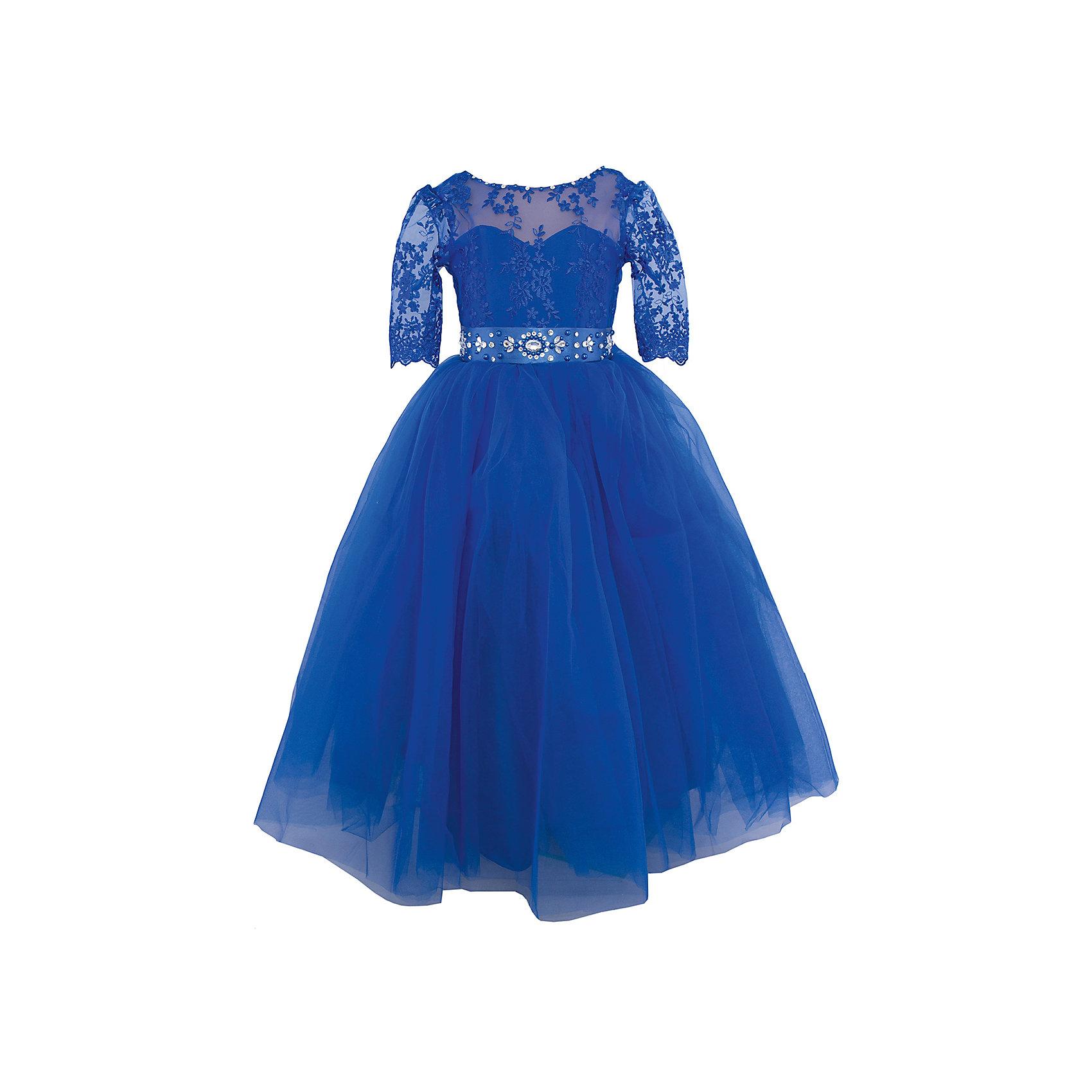 Платье нарядное ПрестижОдежда<br>Характеристики:<br><br>• Вид детской и подростковой одежды: платье<br>• Предназначение: праздничная<br>• Платье подходит для занятий бальными танцами<br>• Коллекция: Veronikaiko<br>• Сезон: круглый год<br>• Тематика рисунка: цветы<br>• Цвет: синий<br>• Материал: 100% полиэстер<br>• Силуэт: А-силуэт<br>• Юбка: солнце<br>• Рукав: 3/4<br>• Вырез горловины: круглый<br>• Длина платья: макси<br>• Застежка: молния на спинке<br>• В комплекте предусмотрен пояс, декорированный стразами<br>• Особенности ухода: ручная стирка при температуре не более 30 градусов<br><br>Платье регулируется шнуровкой сзади, от талии до верха спинки. Шнуровка в комплекте.<br>Платье подходит для занятий бальными танцами.<br><br>Платье нарядное для девочки Престиж от отечественного производителя праздничной одежды и аксессуаров как для взрослых, так и для детей. Изделие выполнено из 100% полиэстера, который обладает легкостью, прочностью, устойчивостью к износу и пятнам.<br><br>Платье отрезное по талии, имеет классический А-силуэт, круглую горловину и пышную юбку макси. Верх платья выполнен в стиле корсета с кружевом и рукавами 3/4. Платье выполнено в ярком красном цвете. В комплекте предусмотрен пояс, декорированный стразами.<br><br>Платье нарядное для девочки Престиж – это неповторимый стиль вашей девочки на любом торжестве!<br><br>Платье нарядное для девочки Престиж можно купить в нашем интернет-магазине.<br><br>Ширина мм: 236<br>Глубина мм: 16<br>Высота мм: 184<br>Вес г: 177<br>Цвет: синий<br>Возраст от месяцев: 72<br>Возраст до месяцев: 84<br>Пол: Женский<br>Возраст: Детский<br>Размер: 116,134,122,128<br>SKU: 5158356
