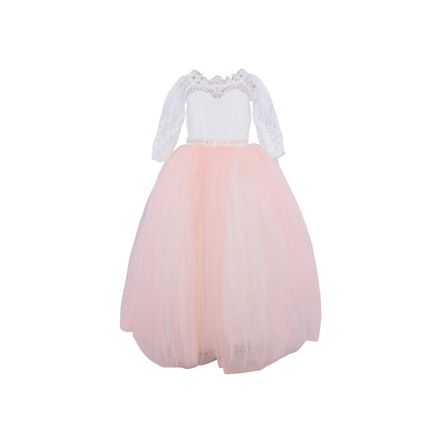 Платье нарядное ПрестижОдежда<br>Платье для девочки Престиж.<br><br>Характеристики:<br><br>• пышный силуэт<br>• корсет<br>• рукав три четверти<br>• цвет: персиковый<br>• состав: 100% полиэстер<br><br>Платье для девочки Престиж имеет пышный силуэт и рукав три четверти. Прекрасное сочетание светлого полупрозрачного лифа и пышной юбки нежного цвета поможет создать элегантный образ маленькой леди.<br><br>Платье регулируется шнуровкой сзади, от талии до верха спинки. Шнуровка в комплекте.<br>Платье подходит для занятий бальными танцами.<br><br>Платье для девочки Престиж вы можете купить в нашем интернет-магазине.<br><br>Ширина мм: 236<br>Глубина мм: 16<br>Высота мм: 184<br>Вес г: 177<br>Цвет: персиковый<br>Возраст от месяцев: 72<br>Возраст до месяцев: 84<br>Пол: Женский<br>Возраст: Детский<br>Размер: 116,128,122<br>SKU: 5158373