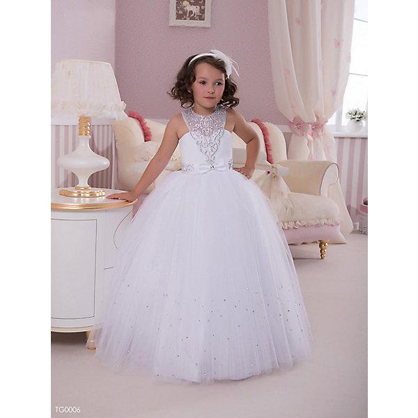 Платье нарядное ПрестижОдежда<br>Платье для девочки Престиж.<br><br>Характеристики:<br><br>• пышный силуэт<br>• без рукавов<br>• цвет: бежевый<br>• состав: 100% полиэстер<br><br>Очаровательное платье для девочки Престиж прекрасно подойдет для любого торжественного мероприятия. Лиф платья декорирован полупрозрачной кружевной вставкой со стразами. Пышная юбка дополнена небольшим поясом, украшенным бантиком и стразами. В этом платье юная леди всегда будет в центре внимания!<br><br>Платье регулируется шнуровкой сзади, от талии до верха спинки. Шнуровка в комплекте.<br>Платье подходит для занятий бальными танцами.<br><br>Вы можете купить платье для девочки Престиж в нашем интернет-магазине.<br><br>Ширина мм: 236<br>Глубина мм: 16<br>Высота мм: 184<br>Вес г: 177<br>Цвет: белый<br>Возраст от месяцев: 108<br>Возраст до месяцев: 120<br>Пол: Женский<br>Возраст: Детский<br>Размер: 128<br>SKU: 5158403