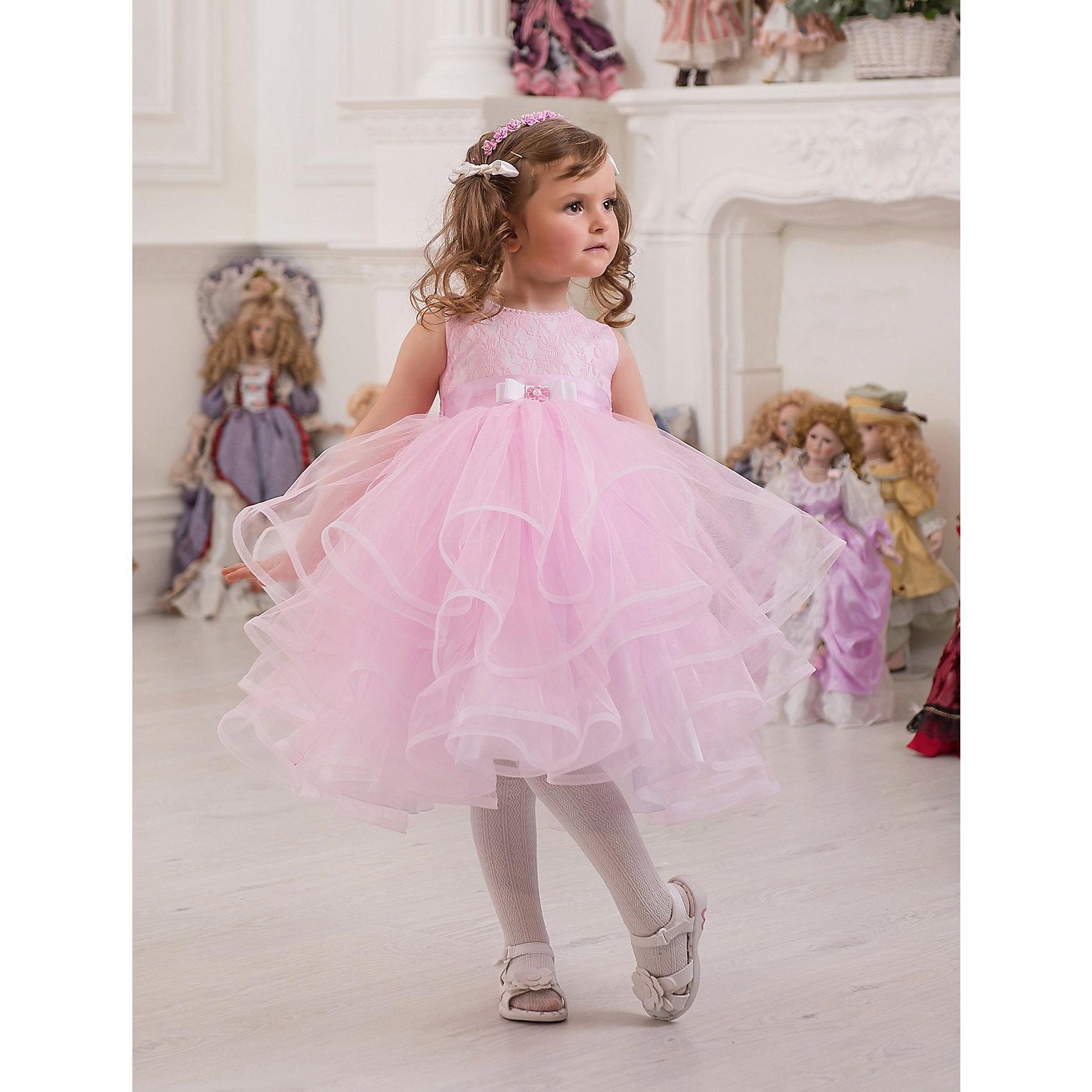 Платье нарядное ПрестижОдежда<br>Платье для девочки Престиж.<br><br>Характеристики:<br><br>• пышный силуэт<br>• без рукавов<br>• состав: 100% полиэстер<br>• цвет: светло-розовый<br><br>Платье для девочки Престиж - пышное и короткое. Пышная юбка и лиф, украшенный вышивкой, дополнены красивым поясом. Это платье создано специально для маленьких принцесс!<br><br>Платье регулируется шнуровкой сзади, от талии до верха спинки. Шнуровка в комплекте.<br>Платье подходит для занятий бальными танцами.<br><br>Платье для девочки Престиж вы можете купить в нашем интернет-магазине.<br><br>Ширина мм: 236<br>Глубина мм: 16<br>Высота мм: 184<br>Вес г: 177<br>Цвет: светло-розовый<br>Возраст от месяцев: 48<br>Возраст до месяцев: 60<br>Пол: Женский<br>Возраст: Детский<br>Размер: 110,104,116<br>SKU: 5158413