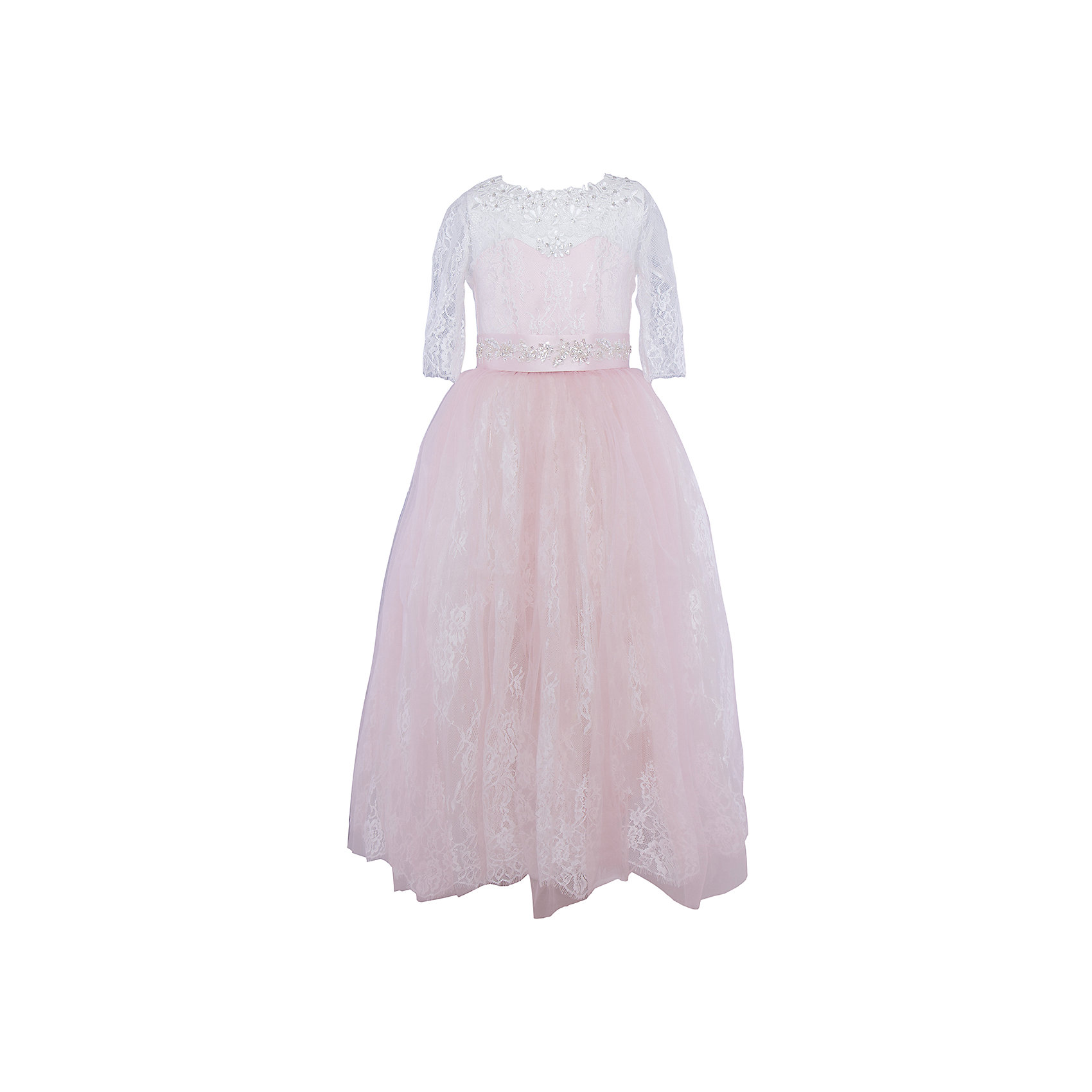 Платье нарядное ПрестижПлатье для девочки Престиж.<br><br>Характеристики:<br><br>• пышный силуэт<br>• рукав три четверти<br>• корсет<br>• состав: 100% полиэстер<br>• цвет: светло-розовый<br><br>Платье для девочки Престиж прекрасно подойдет для любого торжественного мероприятия. Модель имеет пышный силуэт и рукав три четверти. Платье имеет полупрозрачный верх, украшенный вышивкой. Юбка и поясок платья также украшены вышивкой. Стильное пышное платье - то, что нужно маленькой леди!<br><br>Платье регулируется шнуровкой сзади, от талии до верха спинки. Шнуровка в комплекте.<br>Платье подходит для занятий бальными танцами.<br><br>Вы можете купить платье для девочки Престиж в нашем интернет-магазине.<br><br>Ширина мм: 236<br>Глубина мм: 16<br>Высота мм: 184<br>Вес г: 177<br>Цвет: светло-розовый<br>Возраст от месяцев: 72<br>Возраст до месяцев: 84<br>Пол: Женский<br>Возраст: Детский<br>Размер: 116,128,122<br>SKU: 5158428