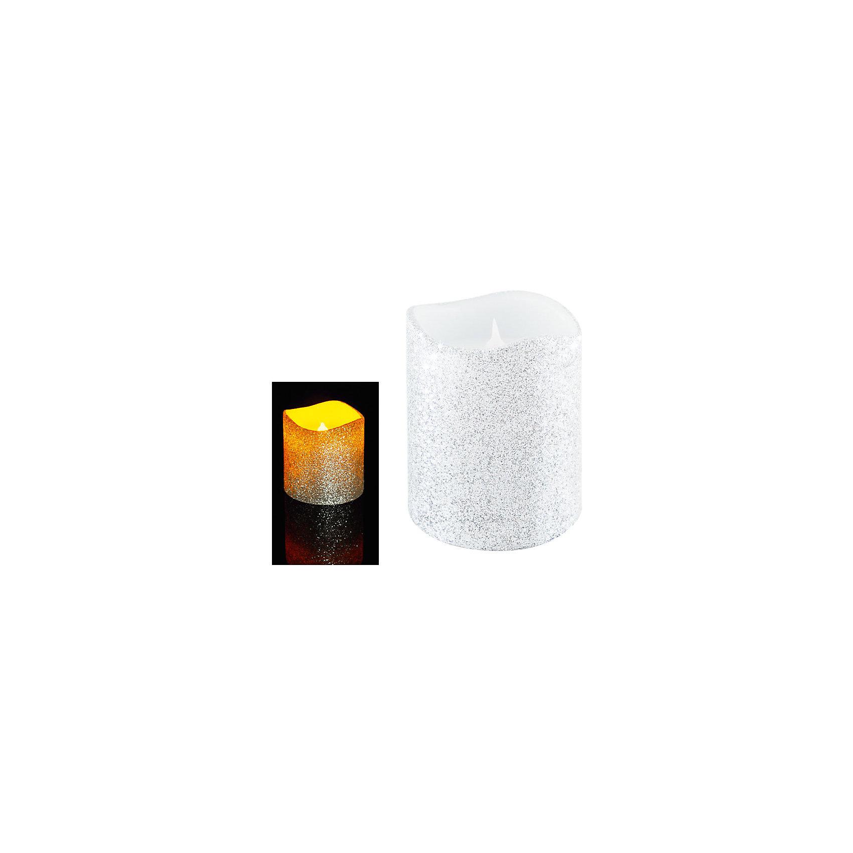 Светодиодная свеча, серебрянная с блесткамиСветодиодная свеча, 10х7,5 см, СЕРЕБРЯНЫЙ цвет с блёстками<br><br>Ширина мм: 8<br>Глубина мм: 20<br>Высота мм: 5<br>Вес г: 300<br>Возраст от месяцев: 72<br>Возраст до месяцев: 540<br>Пол: Унисекс<br>Возраст: Детский<br>SKU: 5159011