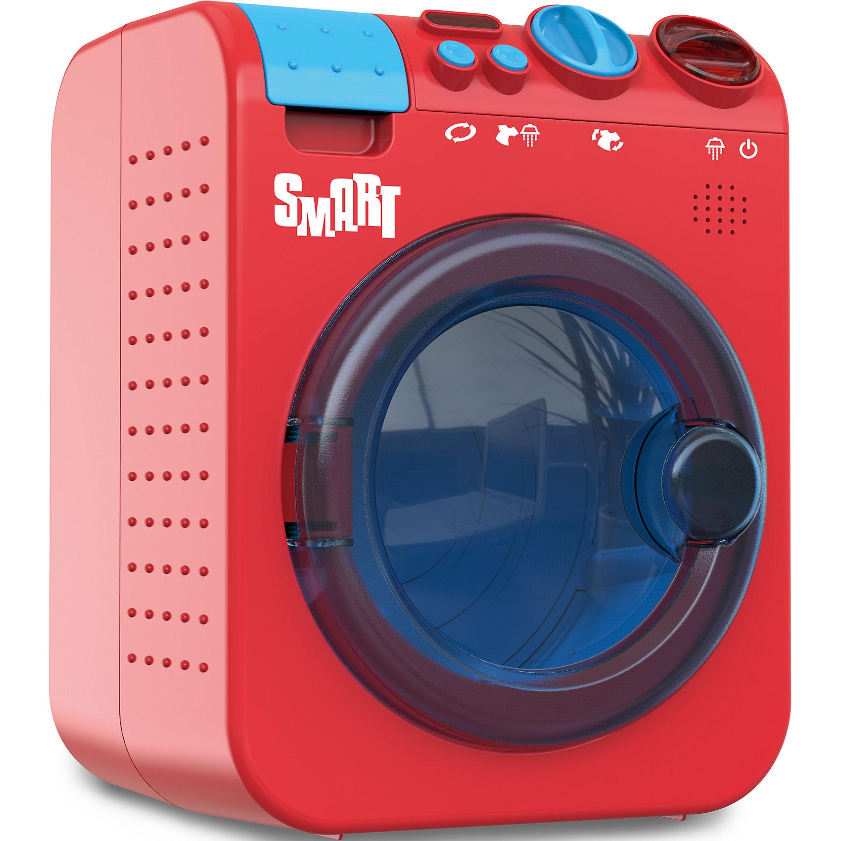 Стиральная машина Smart, HTIИгрушечная бытовая техника<br>Стиральная машина Smart, HTI.<br><br>Характеристики:<br><br>- Размер: 19,5 х 16 х 25 см.<br>- Цвет: красный, голубой<br>- Материал: пластмасса, металл<br>- Батарейки: 3 типа АА (в комплект не входят)<br>- Упаковка: картонная коробка<br>- Размер упаковки: 25,5 х 20,2 х 18,9 см.<br>- Вес: 1 кг.<br><br>Игрушечная стиральная машина со звуковыми и световыми эффектами выполнена в стиле настоящей бытовой техники «Smart», имеет яркий цвет и современный стильный дизайн, поэтому обязательно понравится вашей маленькой хозяйке. Машина оснащена открывающейся дверцей, крутящимся барабаном и ящичком для порошка. На передней панели игрушки находятся 2 реле и кнопки выбора режима стирки, нажав на которые можно включить машину и активировать подсветку барабана и реалистичные звуковые эффекты сопровождающие процесс стирки и отжима. Игрушка позволит вашему ребенку познакомиться с функциями бытовой техники, правилами безопасности обращения с приборами.<br><br>Стиральную машину Smart, HTI купить в нашем интернет-магазине.<br><br>Ширина мм: 251<br>Глубина мм: 197<br>Высота мм: 173<br>Вес г: 986<br>Возраст от месяцев: 48<br>Возраст до месяцев: 2147483647<br>Пол: Женский<br>Возраст: Детский<br>SKU: 5161346