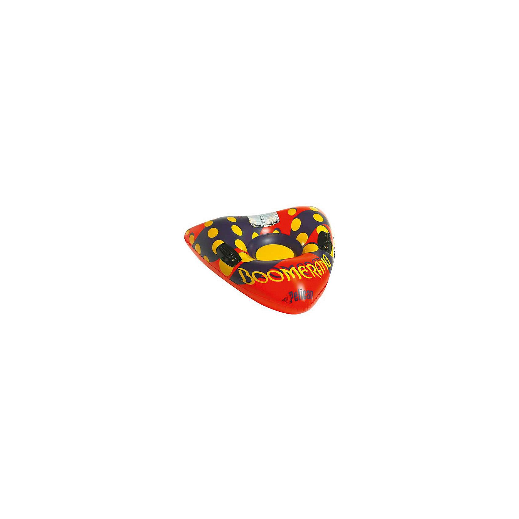 - Надувные санки Пеликан Boomerang санки galaxy мишутка 1 универсал оранжевые