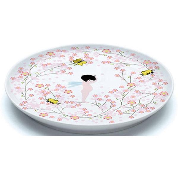 Большая плоская тарелка Чаепитие, DJECOДетская посуда<br>Большая плоская тарелка Чаепитие, DJECO<br><br><br>Характеристики:<br><br>• Материал: фарфор<br>• Размер: 20,5х2см<br>• В комплекте: 1 тарелка<br>• Возраст: от 3 лет<br>• Пол: для девочек<br><br>Красивая плоская тарелка отлично разнообразит обед маленьких девочек. На тарелке изображен маленький и очень милый ангелочек в окружении бабочек, цветочков и узоров. Такая тарелка сможет увлечь принцессу и заставит ее быстро скушать свой обед. Тарелка изготовлена из прочного и качественного материала, который не вызывает аллергию. Краска на тарелке не стирается от мытья и не попадает в еду, что делает ее не только красивой, но и безопасной.<br><br>Большая плоская тарелка Чаепитие, DJECO можно купить в нашем интернет-магазине.<br><br>Ширина мм: 220<br>Глубина мм: 220<br>Высота мм: 30<br>Вес г: 510<br>Возраст от месяцев: 24<br>Возраст до месяцев: 1188<br>Пол: Женский<br>Возраст: Детский<br>SKU: 5163406