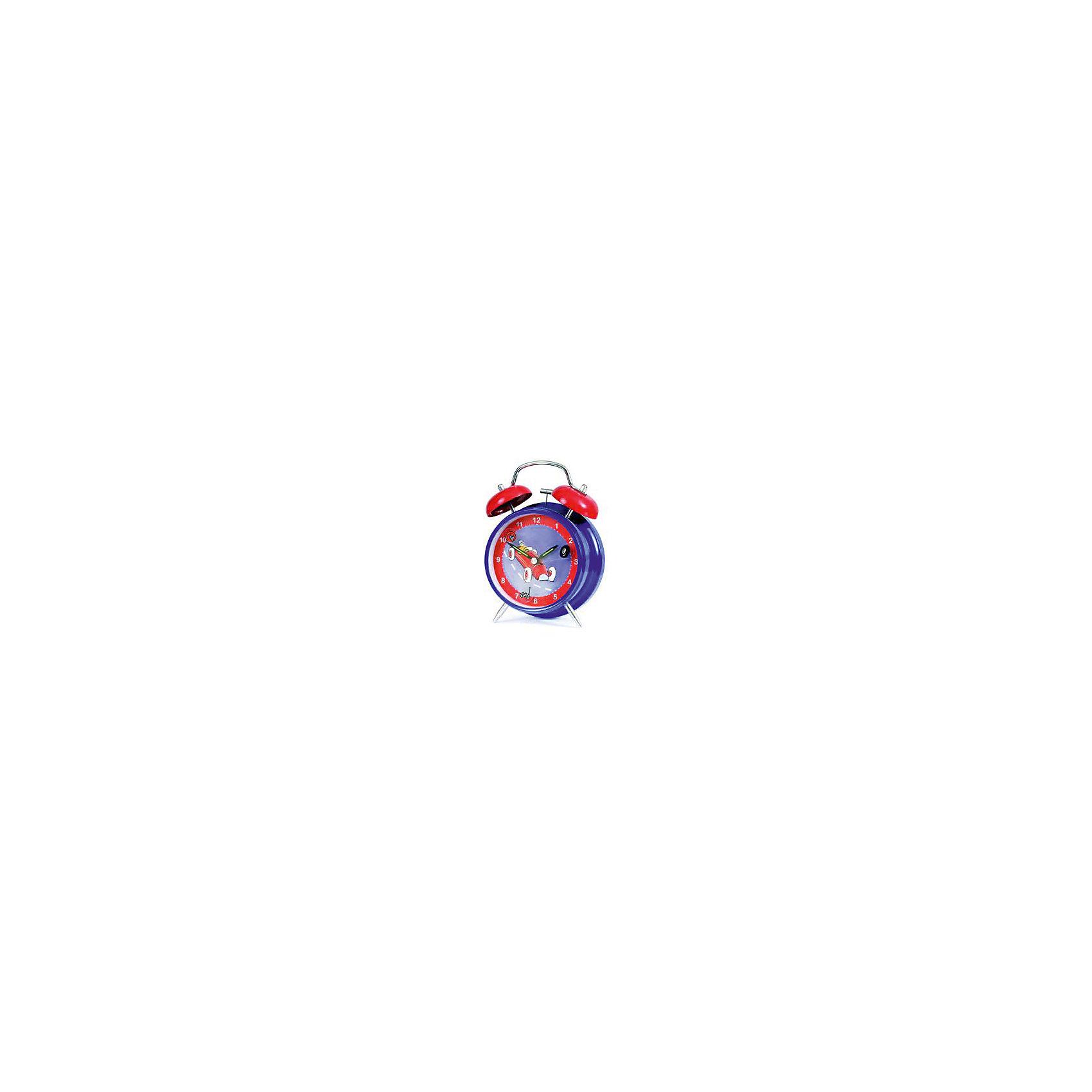 Часы-будильник Гоночные машинки, Egmont ToysПредметы интерьера<br>Часы-будильник Гоночные машинки, Egmont<br><br>Характеристики:<br><br>• Цвет: синий, красный<br>• Диаметр будильника: 12 см<br>• Возраст: от 3 лет<br>• Материал: металл, пластик<br>• Батарейки: AA / LR6 1.5V (пальчиковые)<br><br>Красивый будильник станет отличным помощником для малыша. С таким будильником просыпаться в детский садик или школу будет интересно и весело. Часы не тикают, так как имеют встроенный бесшумный механизм, который способствует комфортному сну. Будильник изготовлен из качественного материала и безопасен для ребенка.<br><br>Часы-будильник Гоночные машинки, Egmont можно купить в нашем интернет-магазине.<br><br>Ширина мм: 120<br>Глубина мм: 120<br>Высота мм: 120<br>Вес г: 300<br>Возраст от месяцев: 36<br>Возраст до месяцев: 1188<br>Пол: Мужской<br>Возраст: Детский<br>SKU: 5163414