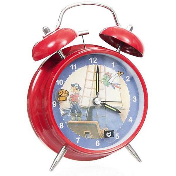 Настольные  часы-будильник  Пират электрические, EgmontДетские предметы интерьера<br>Настольные  часы-будильник Пират электрические, Egmont<br><br>Характеристики:<br><br>• Цвет: синий, красный<br>• Диаметр будильника: 12 см<br>• Возраст: от 3 лет<br>• Материал: металл, пластик<br>• Батарейки: AA / LR6 1.5V (пальчиковые)<br><br>Красивый будильник со смелым и любящим приключения пиратом станет отличным помощником для малыша. С таким будильником просыпаться в детский садик или школу будет интересно и весело. Часы не тикают, так как имеют встроенный бесшумный механизм, который способствует комфортному сну. Кроме этого на циферблате есть подсветка, которая поможет ребенку понять время, когда он внезапно проснулся ночью. Будильник изготовлен из качественного материала и безопасен для ребенка.<br><br>Настольные  часы-будильник Пират электрические, Egmont можно купить в нашем интернет-магазине.<br><br>Ширина мм: 120<br>Глубина мм: 120<br>Высота мм: 120<br>Вес г: 300<br>Возраст от месяцев: 36<br>Возраст до месяцев: 1188<br>Пол: Мужской<br>Возраст: Детский<br>SKU: 5163415