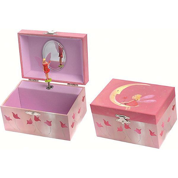 Музыкальная шкатулка Луна, EgmontДетские предметы интерьера<br>Музыкальная шкатулка Луна, Egmont<br><br>Характеристики:<br><br>• Возраст: от 3 лет<br>• Цвет: розовый<br>• Материал: дерево, металл, пластик, картон<br>• Размер: 15х8.5х11.5 см<br>• На батарейках<br><br>Красивая и нежная шкатулка подарит настоящее наслаждение для ребенка. Открывая крышечку, фея, живущая в шкатулке, начинает танцевать на луне под красивую мелодию. В шкатулке можно хранить детские украшения или маленькие секретики. Шкатулка сделана из качественного материала и полностью безопасна для ребенка. <br><br>Музыкальную шкатулку Луна, Egmont можно купить в нашем интернет-магазине.<br>Ширина мм: 150; Глубина мм: 10; Высота мм: 90; Вес г: 300; Возраст от месяцев: 36; Возраст до месяцев: 1188; Пол: Женский; Возраст: Детский; SKU: 5163418;