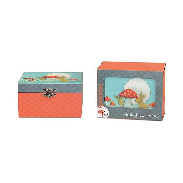 Музыкальная шкатулка Кролик, EgmontДетские предметы интерьера<br>Музыкальная шкатулка Кролик, Egmont<br><br>Характеристики:<br><br>• Возраст: от 3 лет<br>• Цвет: красный, синий<br>• Материал: дерево, металл, пластик, стекло<br>• Размер: 15x10x9 см<br>• На батарейках<br><br>Красивая и нежная шкатулка подарит настоящее наслаждение для ребенка. Открывая крышечку, балерина, живущая в шкатулке, начинает танцевать под красивую мелодию. В шкатулке можно хранить детские украшения или маленькие секретики. Шкатулка сделана из качественного материала и полностью безопасна для ребенка. <br><br>Музыкальная шкатулка Кролик, Egmont можно купить в нашем интернет-магазине.<br><br>Ширина мм: 150<br>Глубина мм: 100<br>Высота мм: 90<br>Вес г: 300<br>Возраст от месяцев: 36<br>Возраст до месяцев: 1188<br>Пол: Унисекс<br>Возраст: Детский<br>SKU: 5163423