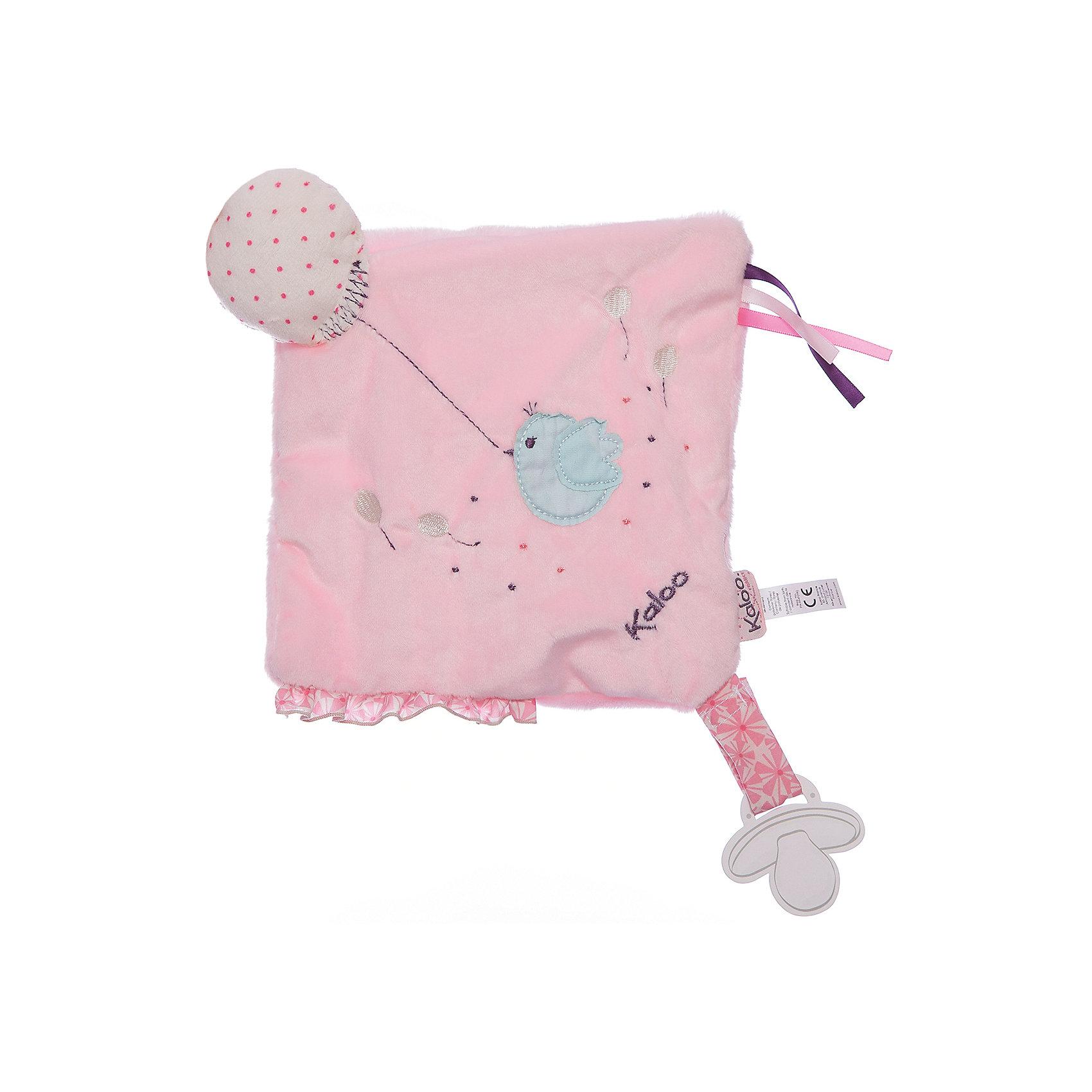 Игрушка-комфортер развивающий Розочка, KalooИгрушка-комфортер развивающий Розочка, Kaloo<br><br>Характеристики:<br><br>• Цвет: розовый<br>• Материал: плюш, наполнитель, текстиль<br>• Размер: 20х20 см<br><br>Комфортер – не просто игрушка, это верный помощник малышу в борьбе с плохими сновидениями. Мамочке достаточно подержать комфортер рядом с собой, чтобы он работал в полную силу. Лицо малыша будет прислоняться к мягкой ткани, от которой пахнет мамой. Воздушный змей всегда будет рядом с крошкой. Комфортер упакован в подарочную коробку. <br><br>Игрушка-комфортер развивающий Розочка, Kaloo можно купить в нашем интернет-магазине.<br><br>Ширина мм: 270<br>Глубина мм: 40<br>Высота мм: 190<br>Вес г: 39<br>Возраст от месяцев: 0<br>Возраст до месяцев: 1188<br>Пол: Женский<br>Возраст: Детский<br>SKU: 5163428