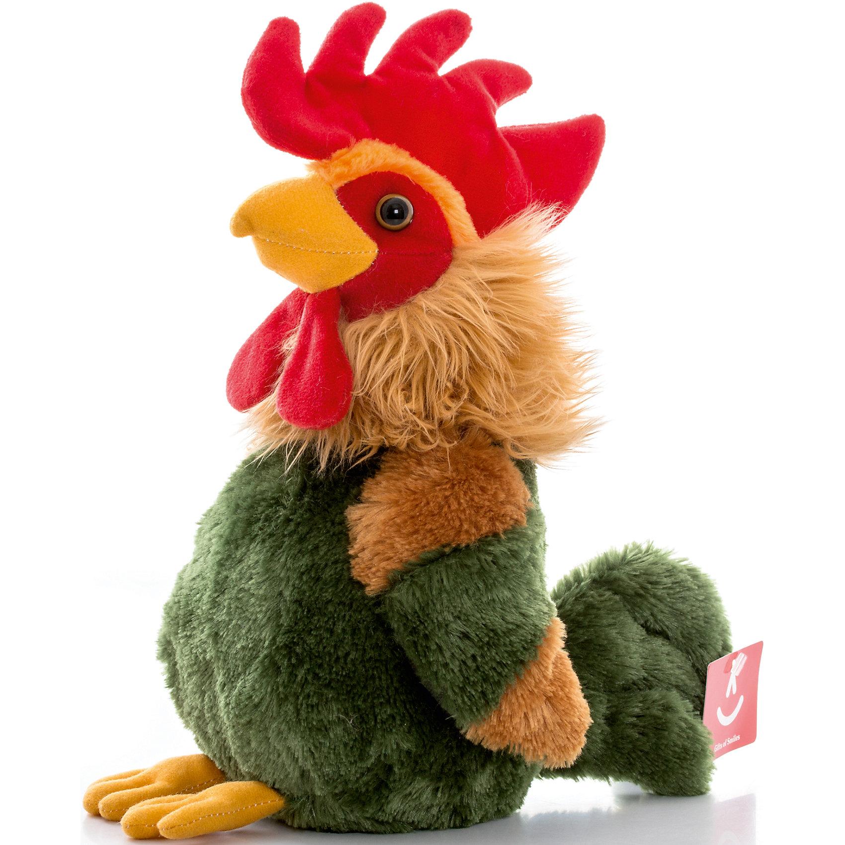 AURORA Игрушка мягкая Петушок пёстрый, 30 см, AURORA большую мягкую игрушку собаку лежа в москве