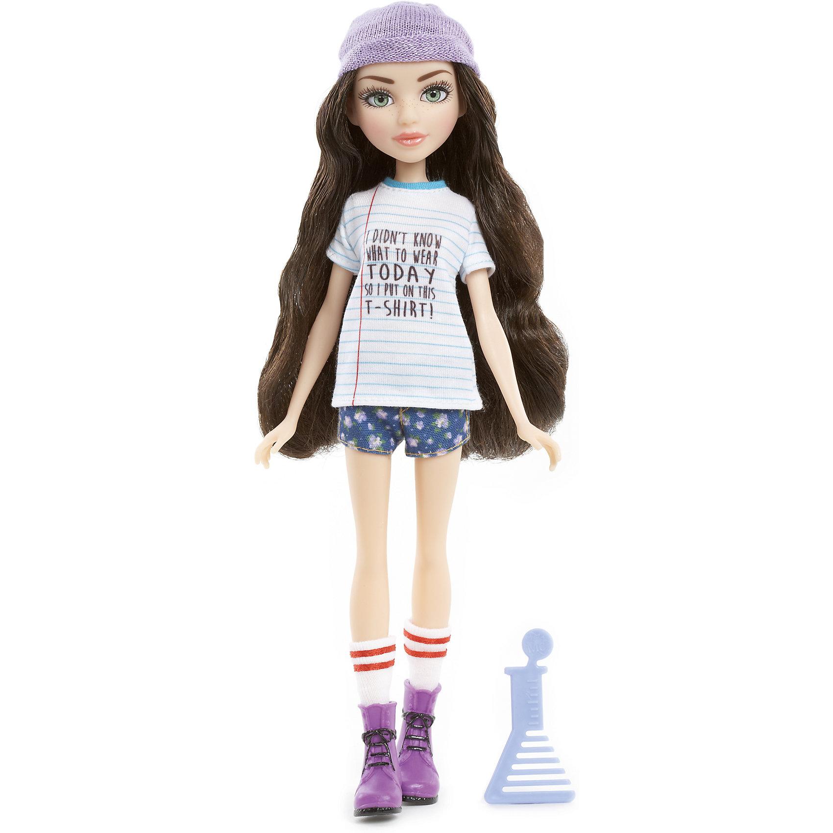 Базовая кукла МакКейла, Project MС2Бренды кукол<br>Базовая кукла МакКейла, Project MС2 (Проджект МСи2).<br><br>Характеристики:<br><br>Размер куклы - 30 см.<br>Вес: 0,2 кг.<br>В комплекте: кукла, расческа.<br>Материал: пластик, текстиль.<br>Подвижные суставы: бедра, плечи, шея.<br><br>Кукла МакКейла – это героиня популярного сериала «Project MС2»,девизом которого является «Быть умной – модно!». Куколка  одета в стильный повседневный наряд . Игрушка, как и ее прототип, предпочитает выбирать достаточно простые вещи для своего гардероба: на ней полосатая футболка с надписью и короткие шортики. Законченный вид образу придают белые гетры, ботиночки и шапочка фиолетового цвета. Длинные реснички, очень «живые» глазки и выразительные черты лица – придают кукле реалистичный вид. Роскошные, вьющиеся темные  волосы ваша девочка сможет .расчесывать и укладывать в затейливые прически. Такая куколка станет желанным подарком для вашей девочки!<br><br>Базовую куклу МакКейла, Project MС2, можно купить в нашем интернет – магазине.<br><br>Ширина мм: 180<br>Глубина мм: 330<br>Высота мм: 70<br>Вес г: 355<br>Возраст от месяцев: 72<br>Возраст до месяцев: 2147483647<br>Пол: Женский<br>Возраст: Детский<br>SKU: 5163445
