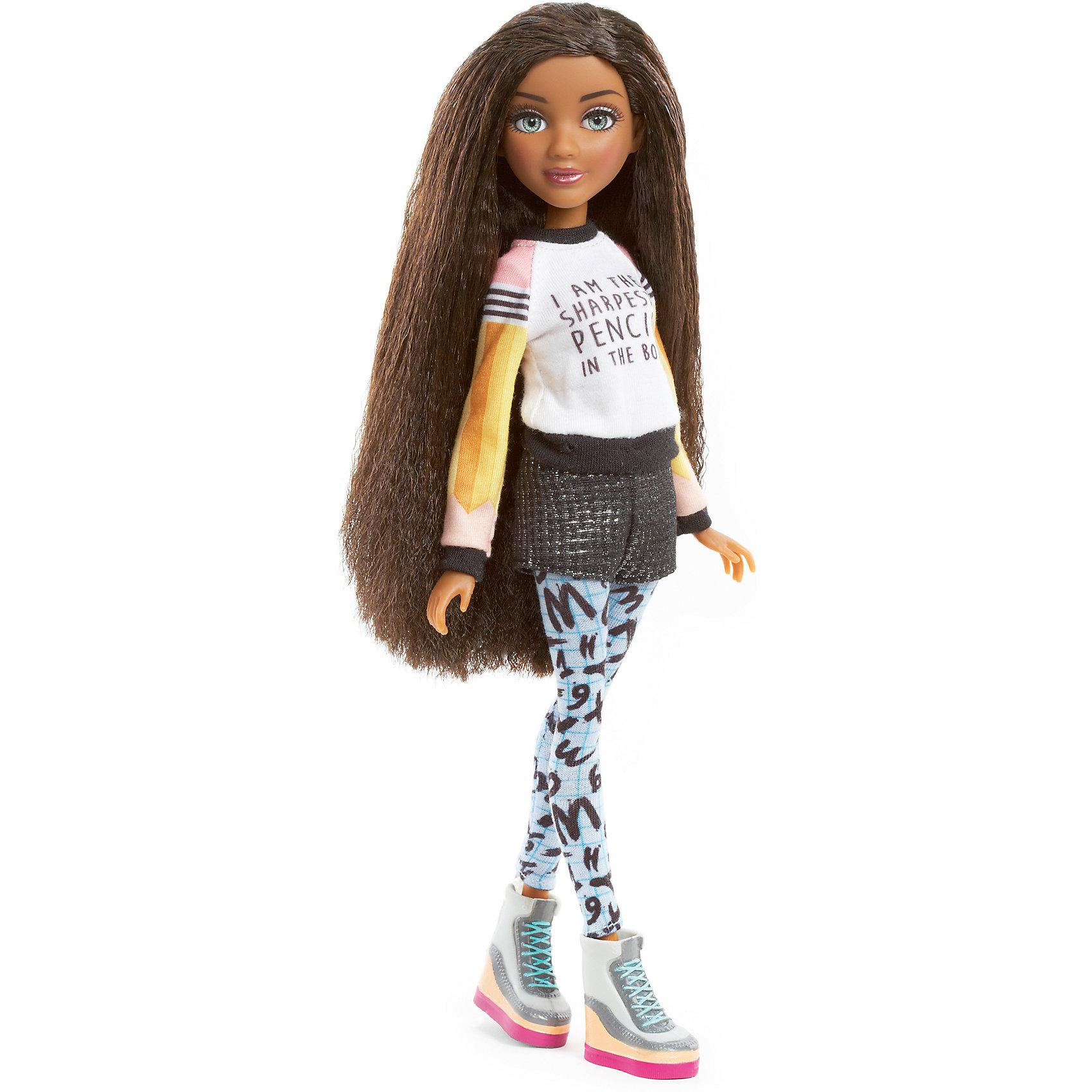 Базовая кукла Брайден, Project MС2Базовая кукла Брайден, Project MС2 (Проджект МСи2).<br><br>Характеристики:<br><br>• Размер куклы - 30 см.<br>• Вес: 0,2 кг.<br>• В комплекте: кукла, расческа.<br>• Материал: пластик, текстиль.<br>• Подвижные суставы: бедра, плечи, шея.<br><br>Кукла Брайден – это героиня популярного сериала «Project MС2»,девизом которого является «Быть умной – модно!». Куколка  одета в стильный повседневный наряд. На ней джемпер с надписью и короткие шортики «под кожу» и лосины с ярким принтом. Законченный вид образу придают ботиночки с разноцветной платформой. Брайден темнокожая девушка. Длинные реснички, очень «живые» глазки и выразительные черты лица – придают кукле реалистичный вид. Роскошные, вьющиеся темные  волосы ваша девочка сможет расчесывать и укладывать в затейливые прически. Такая куколка станет желанным подарком для вашей девочки!<br><br>Базовую куклу Брайден, Project MС2, можно купить в нашем интернет – магазине.<br><br>Ширина мм: 180<br>Глубина мм: 330<br>Высота мм: 70<br>Вес г: 370<br>Возраст от месяцев: 72<br>Возраст до месяцев: 2147483647<br>Пол: Женский<br>Возраст: Детский<br>SKU: 5163447
