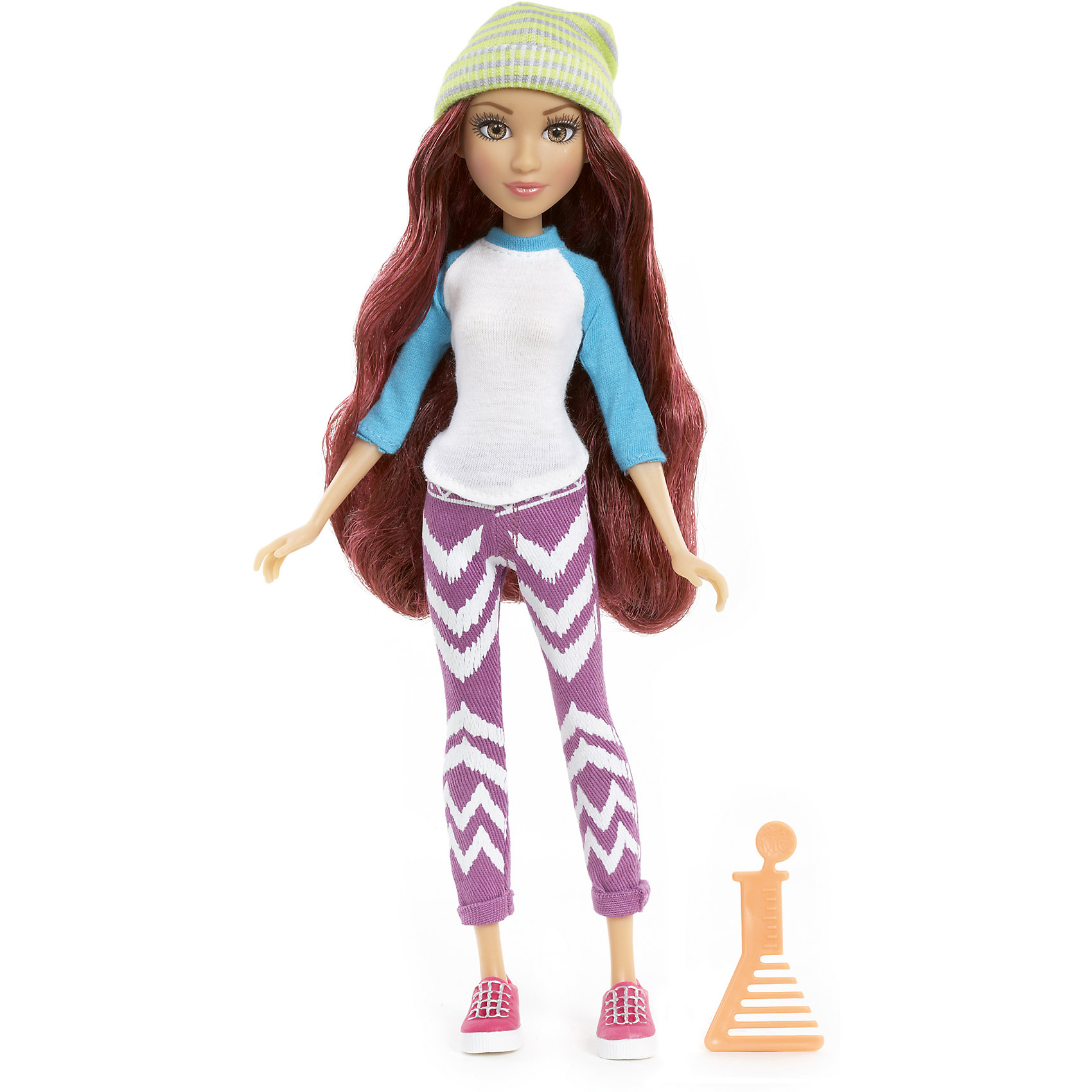 Базовая кукла Камрин, Project MС2Бренды кукол<br>Базовая кукла Камрин, Project MС2 (Проджект МСи2).<br><br>Характеристики:<br><br>• Размер куклы - 30 см.<br>• Вес: 0,2 кг.<br>• В комплекте: кукла, расческа.<br>• Материал: пластик, текстиль.<br>• Подвижные суставы: бедра, плечи, шея.<br><br>Кукла Камрин – это героиня популярного сериала «Project MС2»,девизом которого является «Быть умной – модно!». Куколка  одета в стильный повседневный наряд. На ней джемпер с с длинными голубыми рукавами и лосины с ярким принтом. Законченный вид образу придают розовые ботиночки и шапочка салатового оттенка. Длинные реснички, очень «живые» глазки и выразительные черты лица – придают кукле реалистичный вид. Роскошные, вьющиеся рыжие волосы ваша девочка сможет расчесывать и укладывать в затейливые прически. Такая куколка станет желанным подарком для вашей девочки!<br><br>Базовую куклу Камрин, Project MС2, можно купить в нашем интернет – магазине.<br><br>Ширина мм: 180<br>Глубина мм: 330<br>Высота мм: 70<br>Вес г: 355<br>Возраст от месяцев: 72<br>Возраст до месяцев: 2147483647<br>Пол: Женский<br>Возраст: Детский<br>SKU: 5163448