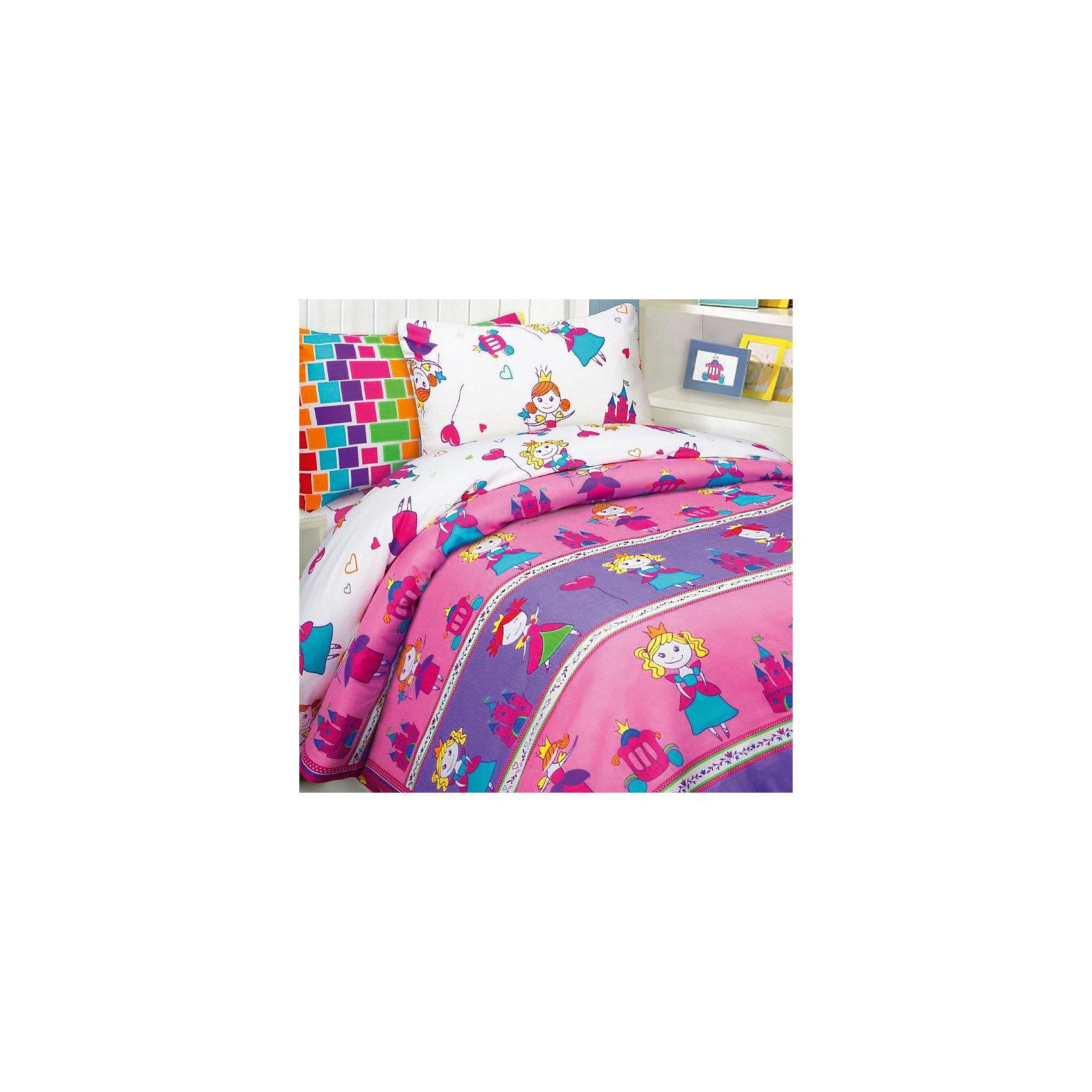 Постельное белье Принцессы, 1,5-спальный, 70*70 и 50*70 бязь, Mona LizaДомашний текстиль<br>Характеристики:<br><br>• Вид домашнего текстиля: детское постельное белье<br>• Тип постельного белья по размерам: 1,5 сп<br>• Пол: для девочки<br>• Серия: Mona Liza Kids<br>• Сезон: круглый год<br>• Материал: бязь <br>• Цвет: розовый, фиолетовый, желтый, зеленый, белый<br>• Комплектация: <br> пододеяльник – 1 шт. 145*210 см <br> простынь – 1 шт. 150*215 см<br> наволочки – 2 шт. (50-70 см и 70*70 см)<br>• Тип упаковки: книжка картонная<br>• Вес в упаковке: 2 кг 300 г<br>• Особенности ухода: машинная стирка при температуре 30 градусов<br><br>Постельное белье 1,5сп Принцессы 70*70 и 50*70 бязь, Mona Liza изготовлено под отечественным торговым брендом, выпускающим постельное белье из натуральных тканей. Комплект выполнен из 100 % бязи, отличающейся высокими характеристиками не только прочности самого полотна, но и устойчивости окраски, которая выполняется по особой технологии. Комплектсостоит из 4-х предметов, с ярким дизайном самой любимой тематики для девочек – принцессы. <br>Постельное белье 1,5сп Принцессы 70*70 и 50*70 бязь, Mona Liza – домашний текстиль, соответствующий международным стандартам качества и безопасности!<br><br>Постельное белье 1,5сп Принцессы 70*70 и 50*70 бязь, Mona Liza можно купить в нашем интернет-магазине.<br><br>Ширина мм: 250<br>Глубина мм: 60<br>Высота мм: 330<br>Вес г: 1300<br>Возраст от месяцев: 84<br>Возраст до месяцев: 216<br>Пол: Женский<br>Возраст: Детский<br>SKU: 5165638