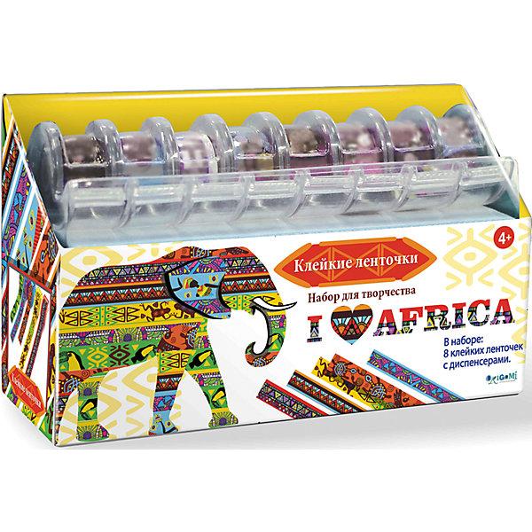 Я люблю Африку Набор для творчества с клейкими ленточкамиБумага<br>Клейкие ленточки - легкий способ сделать свою жизнь ярче! Наклей ленточки на блокнот, карандаш, линейку, - и привычные вещи станут ярче и привлекательней! В набор входит 8 разноцветных ленточек с диспенсерами. Создай свои неповторимый стиль при помощи клейких ленточек! Ты можешь украсить  тетрадку, фотоальбом, телефон, ручку, пенал и даже обновить свою комнату! Фантазируй! Будь неповторим!<br>Ширина мм: 150; Глубина мм: 20; Высота мм: 100; Вес г: 82; Возраст от месяцев: 48; Возраст до месяцев: 84; Пол: Унисекс; Возраст: Детский; SKU: 5165718;