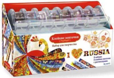 Чудо-Творчество Я люблю Россию Набор для творчества с клейкими ленточками.