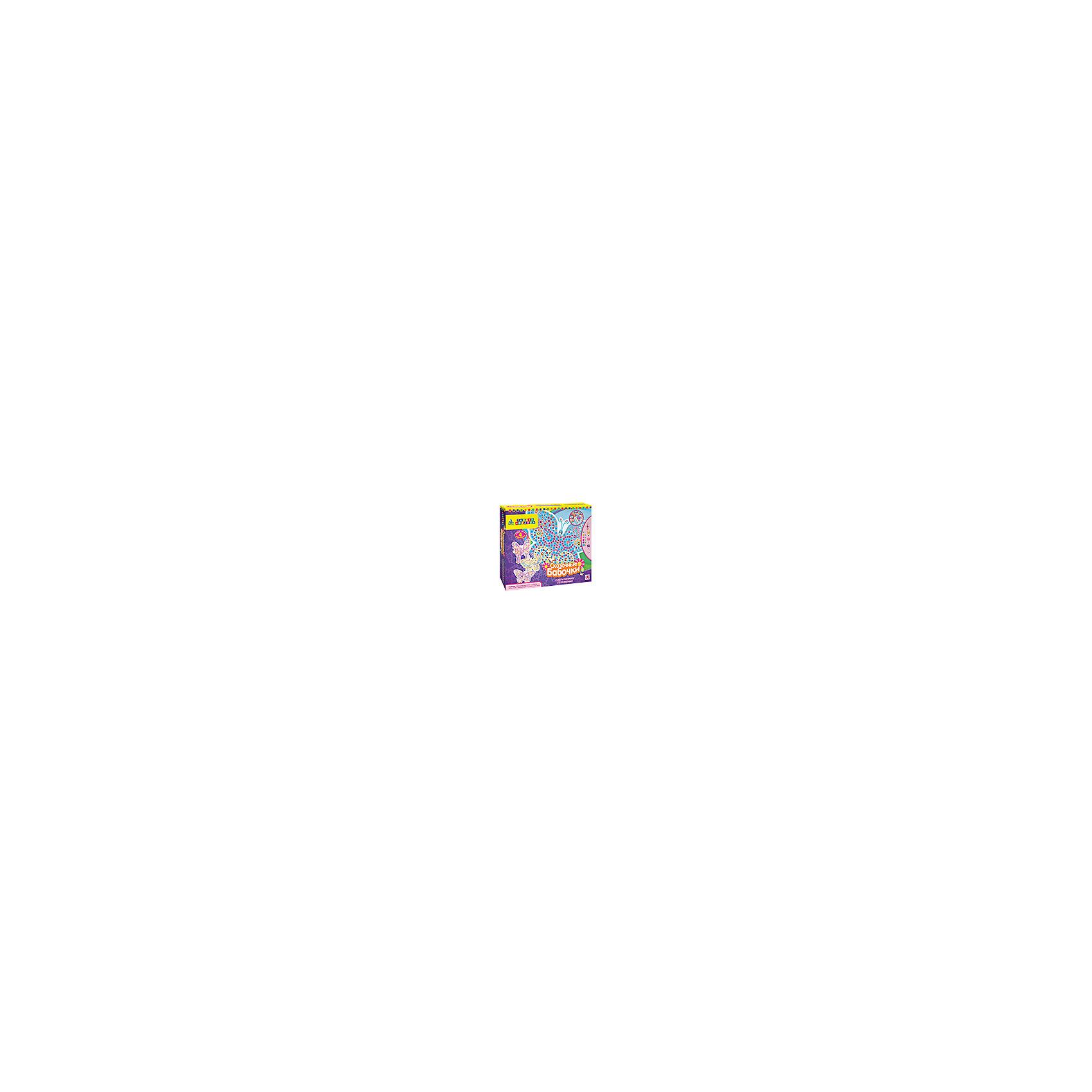 Мозаика-набор Сказочные бабочкиМозаика детская<br>Позволь разыграться своей фантазии с этими 4 удивительными и неповторимыми бабочками! Бабочки – одни из самых красивых жителей планеты! Собери мозаику по номерам, повесь на стену готовые картины с помощью специальных подвесов, входящих в набор, и наслаждайся красотой этих прелестных созданий!В наборе:• 4 картонные фигурные основы• 1900+ самоклеящихся элементов и страз• 4 подвесаДизайн моделей разработан в США.5+<br><br>Ширина мм: 324<br>Глубина мм: 51<br>Высота мм: 273<br>Вес г: 333<br>Возраст от месяцев: 60<br>Возраст до месяцев: 96<br>Пол: Унисекс<br>Возраст: Детский<br>SKU: 5165742
