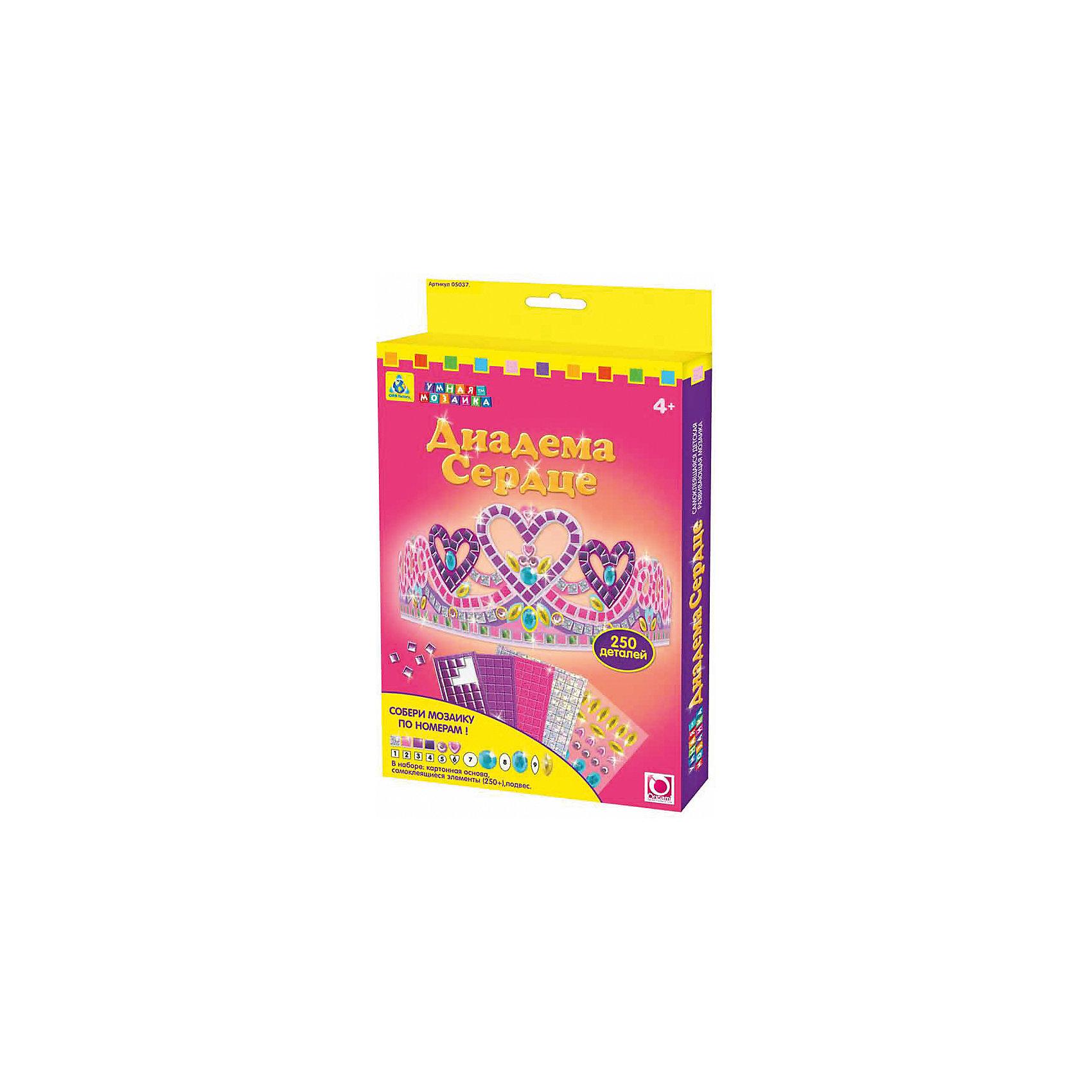 Orb Factory Мозаика для девочек диадема Сердце очки lunten ranta диадема 66151