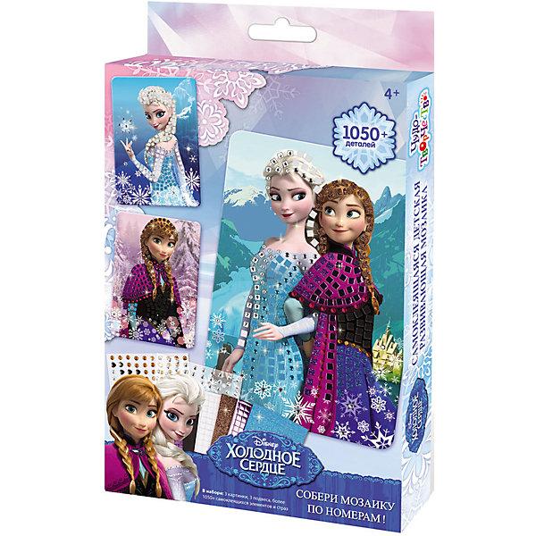 Мозаика набор Холодное сердцеМозаика детская<br>Мозаика с самоклеящимися элементами  тм Чудо-творчество отличается высоким качеством исполнения и красочными цветовыми дизайнами. Набор поможет в обучении цветам и цифрам. Мозаика 3 в 1  Анна и Эльза Disney Холодное сердце позволит прикоснуться к волшебству Эльзы - укрась картинки блестящими элементами, и принцессы-сестры порадуют вас своим волшебством!<br><br>Ширина мм: 197<br>Глубина мм: 311<br>Высота мм: 32<br>Вес г: 288<br>Возраст от месяцев: 48<br>Возраст до месяцев: 84<br>Пол: Женский<br>Возраст: Детский<br>SKU: 5165774