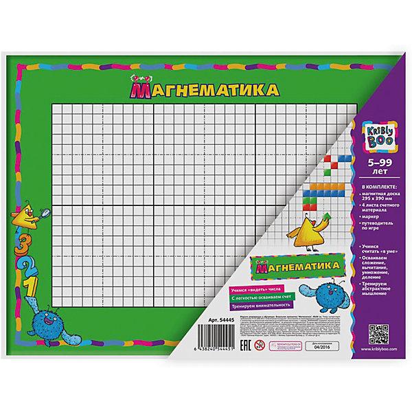 Визуальная математика МагнематикаПособия для обучения счёту<br>Характеристики товара:<br><br>• материал: картон, магнит<br>• размер: 42х26х33 см<br>• вес: 400 г<br>• комплектация: магнитная доска 29х39 см, 4 листа счетного материала, маркер<br>• цветные иллюстрации<br>• возраст: от трех лет<br>• страна бренда: Финляндия<br>• страна изготовитель: Китай<br><br>Такая игра сделает учебу легче и интереснее! В одном С помощью неё ребенок легко освоит счет и математические действия, а также будет тренировать внимательность, абстрактное мышление, логику, усидчивость. Комплект будет полезен собирающимся идти в школу.<br>Издание выпущено в удобном формате, с яркими иллюстрациями. Хорошее качество печати. Изделие производится из качественных и проверенных материалов, которые безопасны для детей.<br><br>Издание Визуальная математика Магнематика от бренда KriBly Boo можно купить в нашем интернет-магазине.<br><br>Ширина мм: 420<br>Глубина мм: 260<br>Высота мм: 330<br>Вес г: 383<br>Возраст от месяцев: 36<br>Возраст до месяцев: 84<br>Пол: Унисекс<br>Возраст: Детский<br>SKU: 5167795