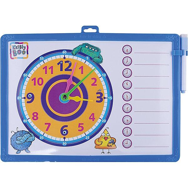 Доска-часы двусторонняя, с маркером (синяя)Коврики и доски для рисования<br>Характеристики товара:<br><br>• цвет: синий<br>• материал: полимер<br>• размер: 25х34 см<br>• вес: 180 г<br>• комплектация: доска-часы, маркер<br>• возраст: от трех лет<br>• страна бренда: Финляндия<br>• страна изготовитель: Китай<br><br>Такая доска сделает учебу легче и интереснее! Доска выпонена в приятной яркой расцветке. С помощью неё ребенок легко научится узнавать время, сможет рисовать, а также будет тренировать внимательность, абстрактное мышление, логику, усидчивость. Комплект будет полезен собирающимся идти в школу, а также младшим школьникам. <br>На одной стороне изделия - часы, на другой - поверхность для рисования. Доска выпущена в удобном формате, со всеми необходимыми предметами в наборе. Изделие производится из качественных и проверенных материалов, которые безопасны для детей.<br><br>Доску-часы двустороннюю, с маркером от бренда KriBly Boo можно купить в нашем интернет-магазине.<br>Ширина мм: 340; Глубина мм: 250; Высота мм: 10; Вес г: 183; Возраст от месяцев: 36; Возраст до месяцев: 84; Пол: Мужской; Возраст: Детский; SKU: 5167801;