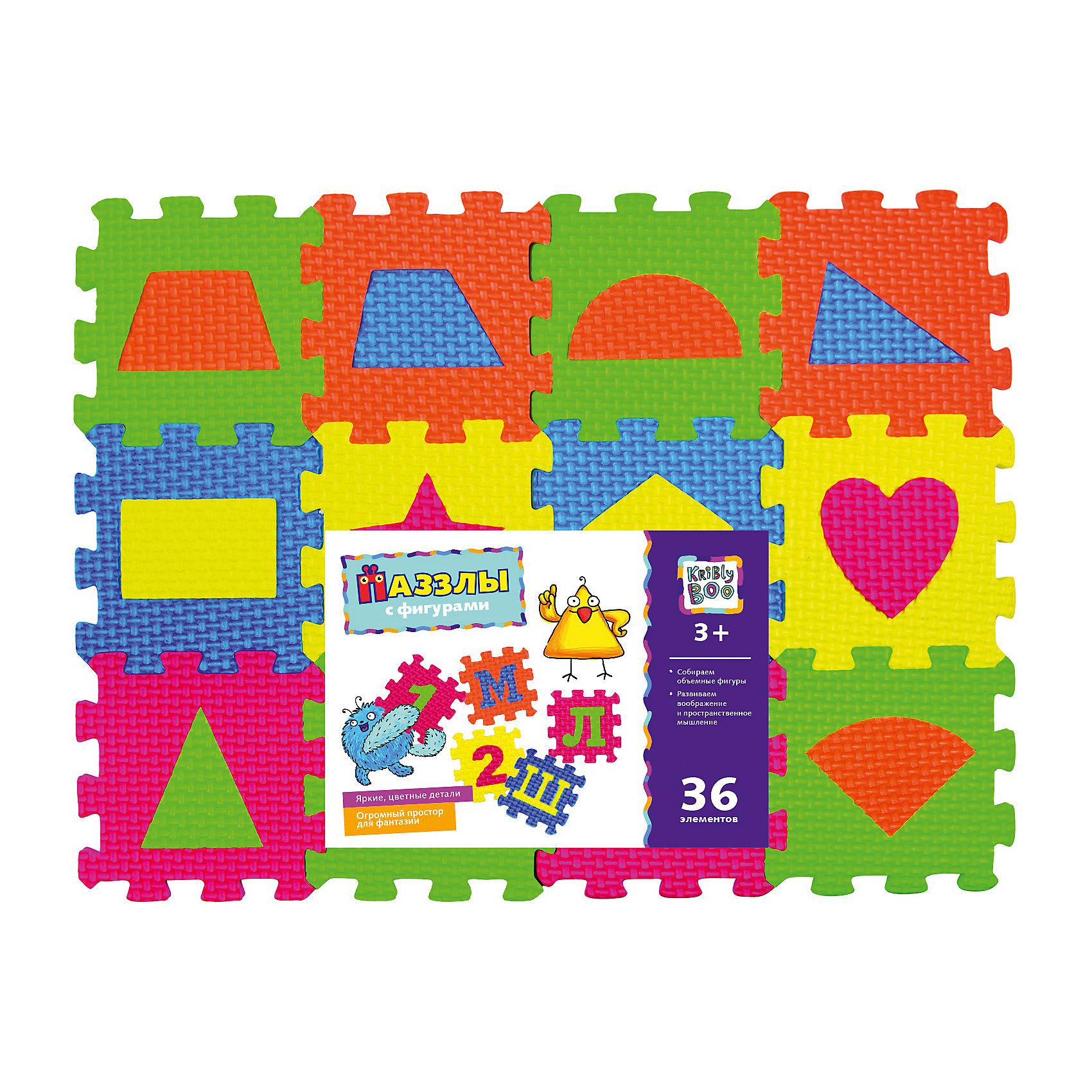 Kribly Boo Пазлы с фигурами, 36 элементов пазлы origami пазл дм зайчик и волчонок 25 элементов