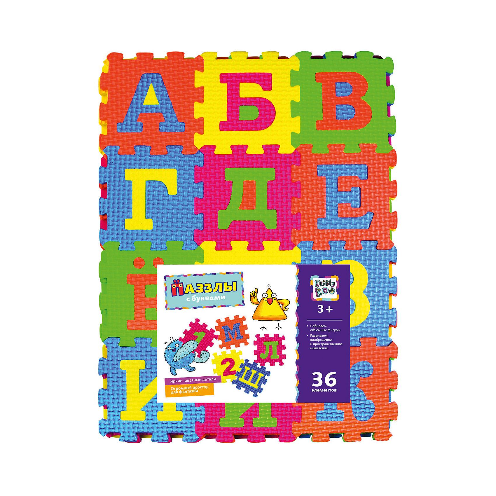 Kribly Boo Пазлы с буквами, 36 элементов пазлы origami пазл дм зайчик и волчонок 25 элементов