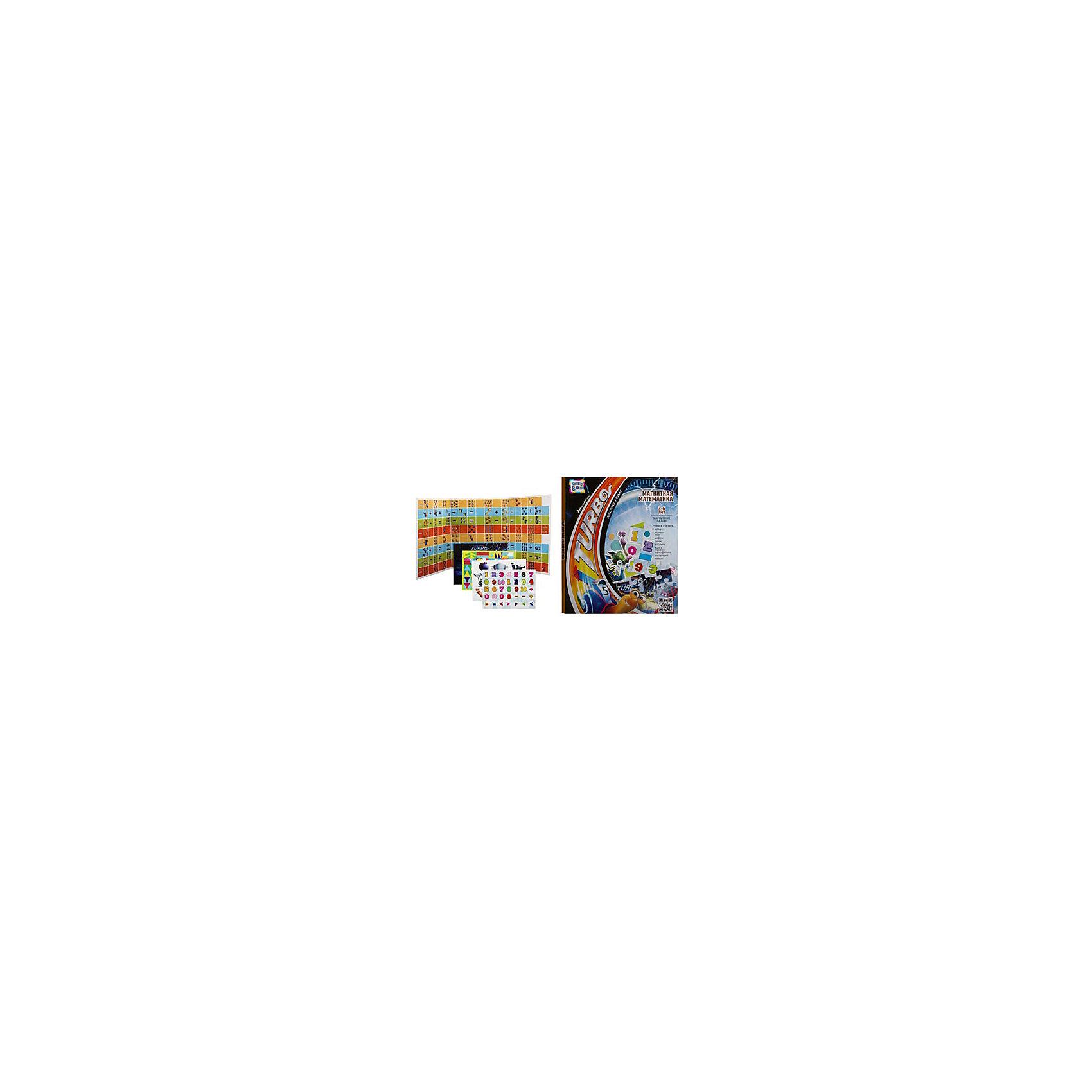 Магнитная книжка Турбо Магнитная математика 43x24 смПособия для обучения счёту<br>Характеристики товара:<br><br>• материал: полимер, металл, магнит<br>• размер: 43х34х5 см<br>• вес: 740 г<br>• комплектация: игровое поле, магнитные фишки, игровой кубик, дополнительные магнитные персонажи, инструкция, постер<br>• развивающая, настольная<br>• возраст: от трех лет<br>• страна бренда: Финляндия<br>• страна изготовитель: Китай<br><br>Эта книжка станет отличным подарком малышам! Такой набор сделает учебу легче и интереснее. С помощью этой игры ребенок не только весело проведет время, он легко освоит цифры и счет, разные цвета и формы, будет тренировать внимательность, абстрактное мышление, логику, усидчивость. Книжка будет полезна малышам от трех лет - она позволяет обучаться в игре.<br>Развивающая игрушка выпущена в удобном формате, в яркой приятной расцветке. Изделие производится из качественных и проверенных материалов, которые безопасны для детей.<br><br>Магнитную книжку Турбо Магнитная математика от бренда KriBly Boo можно купить в нашем интернет-магазине.<br><br>Ширина мм: 430<br>Глубина мм: 340<br>Высота мм: 5<br>Вес г: 925<br>Возраст от месяцев: 36<br>Возраст до месяцев: 84<br>Пол: Унисекс<br>Возраст: Детский<br>SKU: 5167819