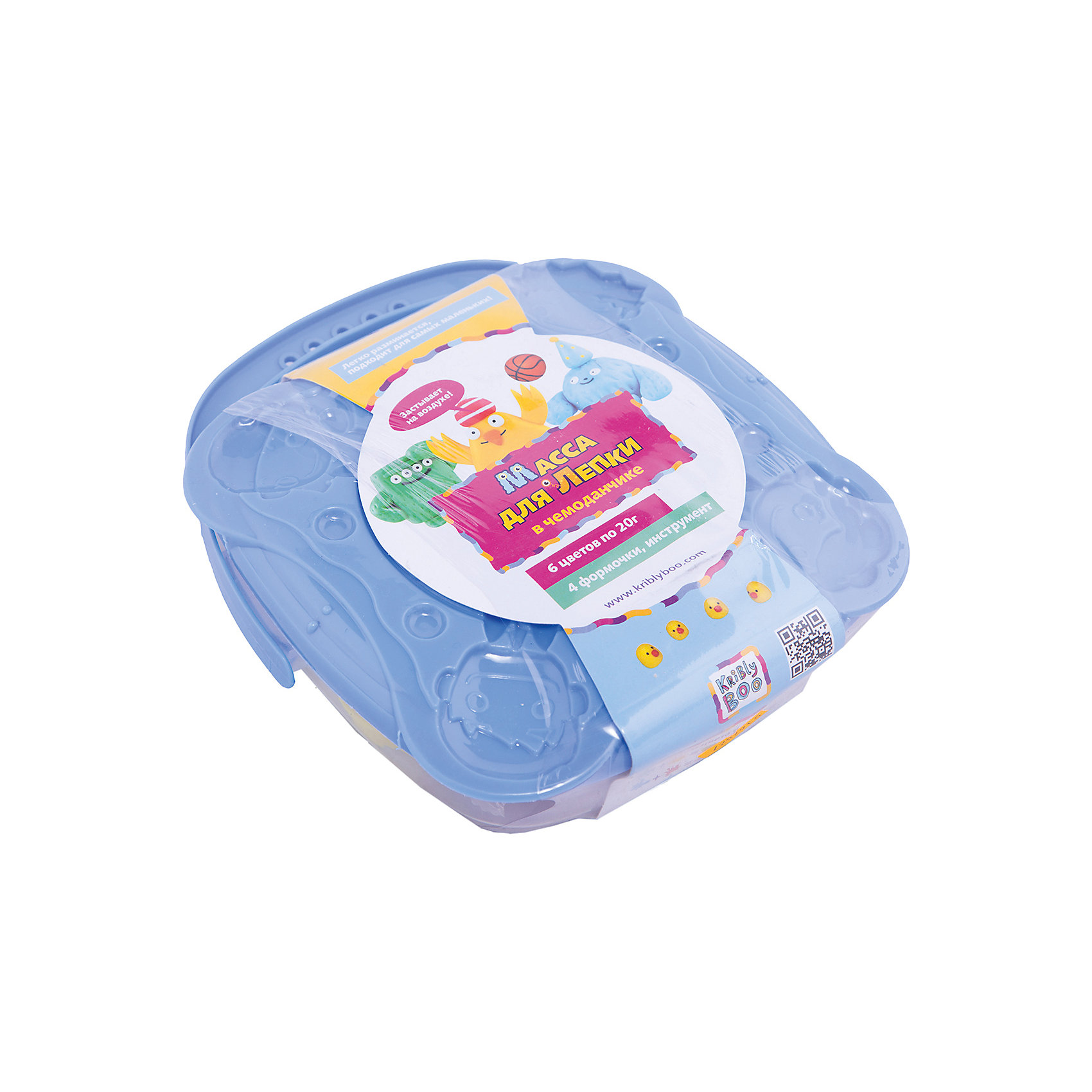 Масса для лепки в чемоданчике с формочками, 6 шт. 20 гМасса для лепки<br>Характеристики товара:<br><br>• цвет: разноцветный<br>• размер упаковки: 15 x 5 x 18 см<br>• вес: 300 г<br>• комплектация: 6 баночек, чемоданчик, формочки<br>• вес одной баночки с массой: 20 г<br>• затвердевает на воздухе<br>• возраст: от трех лет<br>• упаковка: чемоданчик<br>• страна бренда: Финляндия<br>• страна изготовитель: Китай<br><br>Такой набор станет отличным подарком ребенку - ведь с помощью массы для лепки создавать фигуры легко и весело! В набор входят баночки с массой базовых цветов. Масса потом сама затвердевает на воздухе!<br>Детям очень нравится что-то делать своими руками! Кроме того, творчество помогает детям развивать важные навыки и способности, оно активизирует мышление, формирует усидчивость, творческие способности, мелкую моторику и воображение. Изделие производится из качественных и проверенных материалов, которые безопасны для детей.<br><br>Набор Масса для лепки в чемоданчике с формочками, 6 шт. 20 г от бренда KriBly Boo можно купить в нашем интернет-магазине.<br><br>Ширина мм: 155<br>Глубина мм: 45<br>Высота мм: 180<br>Вес г: 292<br>Возраст от месяцев: 36<br>Возраст до месяцев: 84<br>Пол: Унисекс<br>Возраст: Детский<br>SKU: 5167827