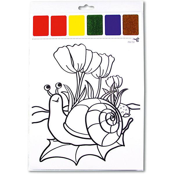 Набор для раскрашивания акварелью Улитка на листочке, с кисточкойНаборы для раскрашивания<br>Характеристики товара:<br><br>• материал: картон<br>• размер: 22х32 см<br>• вес: 26 г<br>• комплектация: раскраска, палитра красок 6 цветов<br>• развивающая<br>• возраст: от трех лет<br>• страна бренда: Финляндия<br>• страна изготовитель: Китай<br><br>Такая раскраска станет отличным подарком малышам! Она отличается тем, что прямо на ней - акварельные краски! В палитре - 6 самых популярных оттенков, которых хватит для раскрашивания картинки. Изображения крупные, поэтому даже малышам будет легко их раскрасить. С помощью раскрашивания ребенок не только весело проведет время, он будет тренировать внимательность, абстрактное мышление, логику, усидчивость, мелкую моторику и творческие способности. <br>Раскраска выпущена в удобном формате. Изделие производится из качественных и проверенных материалов, которые безопасны для детей.<br><br>Набор для раскрашивания акварелью Улитка на листочке от бренда KriBly Boo можно купить в нашем интернет-магазине.<br>Ширина мм: 320; Глубина мм: 215; Высота мм: 3; Вес г: 27; Возраст от месяцев: 36; Возраст до месяцев: 84; Пол: Унисекс; Возраст: Детский; SKU: 5167830;