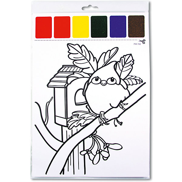 Набор для раскрашивания акварелью Птичка, с кисточкойНаборы для раскрашивания<br>Характеристики товара:<br><br>• материал: картон<br>• размер: 22х32 см<br>• вес: 26 г<br>• комплектация: раскраска, палитра красок 6 цветов, кисть<br>• развивающая<br>• возраст: от трех лет<br>• страна бренда: Финляндия<br>• страна изготовитель: Китай<br><br>Такая раскраска станет отличным подарком малышам! Она отличается тем, что прямо на ней - акварельные краски и кисть! В палитре - 6 самых популярных оттенков, которых хватит для раскрашивания картинки. Изображения крупные, поэтому даже малышам будет легко их раскрасить. С помощью раскрашивания ребенок не только весело проведет время, он будет тренировать внимательность, абстрактное мышление, логику, усидчивость, мелкую моторику и творческие способности. <br>Раскраска выпущена в удобном формате. Изделие производится из качественных и проверенных материалов, которые безопасны для детей.<br><br>Набор для раскрашивания акварелью Птичка, с кисточкой от бренда KriBly Boo можно купить в нашем интернет-магазине.<br><br>Ширина мм: 320<br>Глубина мм: 215<br>Высота мм: 3<br>Вес г: 27<br>Возраст от месяцев: 36<br>Возраст до месяцев: 84<br>Пол: Унисекс<br>Возраст: Детский<br>SKU: 5167832