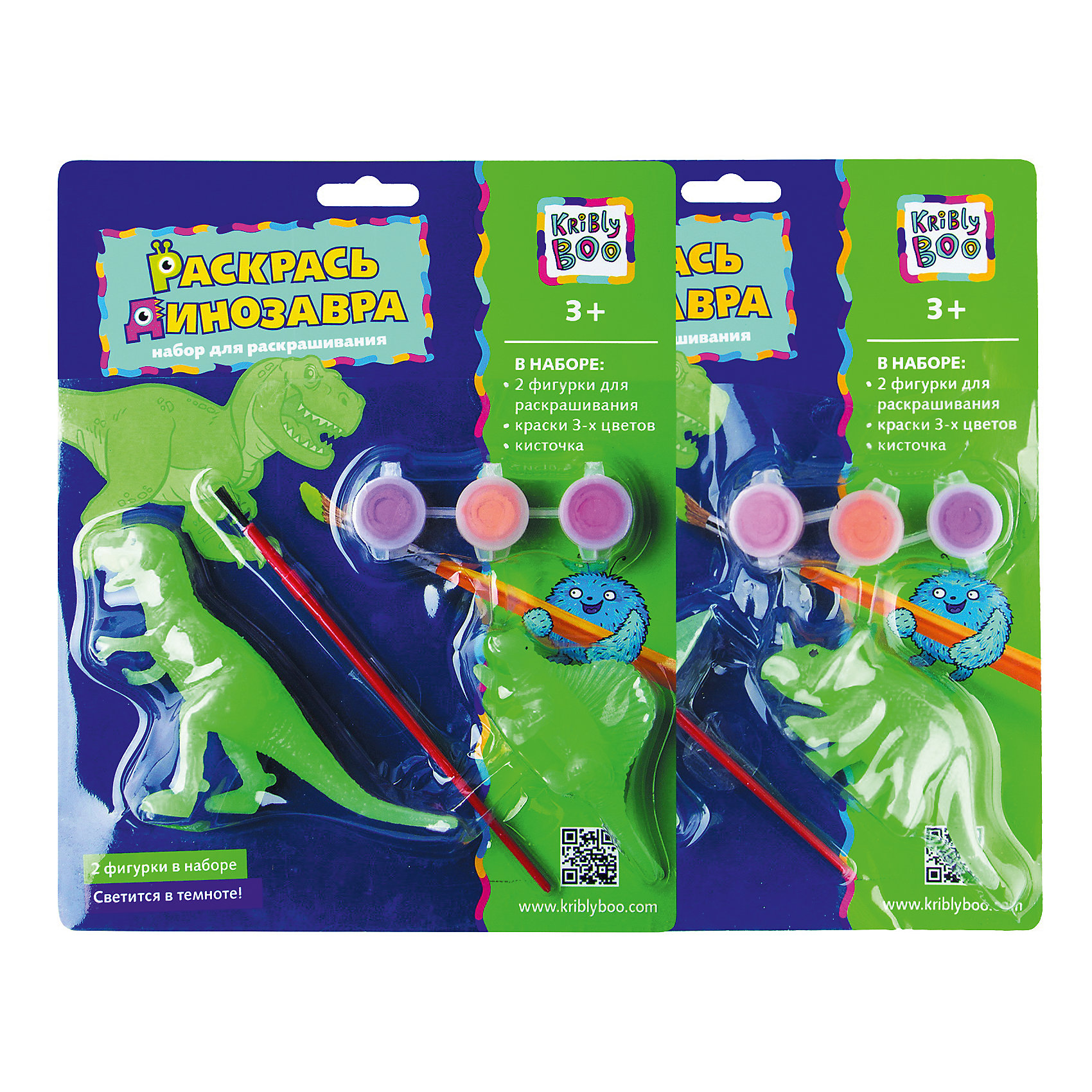 Набор Раскрась динозавра, светящийся в темнотеХарактеристики товара:<br><br>• материал: пластик, акрил<br>• размер: 20х24х4 см<br>• вес: 100 г<br>• комплектация: 3 динозавра, краски 3 цвета, кисть<br>• фигурки светятся в темноте<br>• развивающая<br>• возраст: от трех лет<br>• страна бренда: Финляндия<br>• страна изготовитель: Китай<br><br>Такая раскраска станет отличным подарком малышам! Она отличается тем, что сделана в виде объемных динозавров! Ддля раскрашивания к ней прилагаются кисть и краски. С помощью раскрашивания ребенок не только весело проведет время, он будет тренировать внимательность, абстрактное мышление, логику, усидчивость, мелкую моторику и творческие способности. <br>Раскраска выпущена в удобном формате. Изделие производится из качественных и проверенных материалов, которые безопасны для детей.<br><br>Набор Раскрась динозавра, светящийся в темноте, от бренда KriBly Boo можно купить в нашем интернет-магазине.<br><br>Ширина мм: 240<br>Глубина мм: 200<br>Высота мм: 40<br>Вес г: 125<br>Возраст от месяцев: 36<br>Возраст до месяцев: 84<br>Пол: Унисекс<br>Возраст: Детский<br>SKU: 5167839