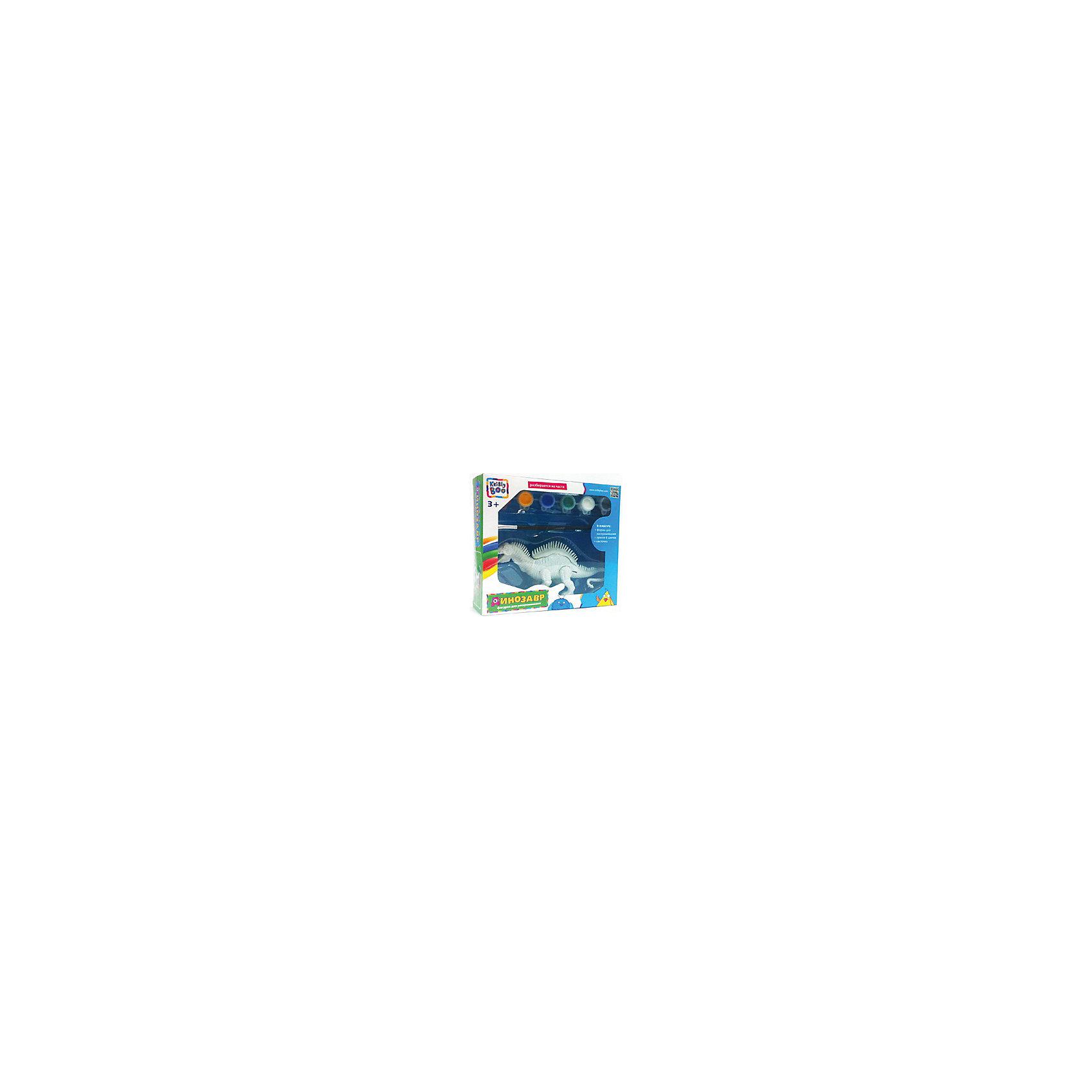 Фигурка динозавра для раскрашиванияНаборы для раскрашивания<br>Характеристики товара:<br><br>• материал: пластик, акрил<br>• размер: 38х18х17 см<br>• вес: 250 г<br>• комплектация: динозавр, краски 6 цветов, кисть<br>• фигурка разбираются на части<br>• развивающая<br>• возраст: от трех лет<br>• страна бренда: Финляндия<br>• страна изготовитель: Китай<br><br>Такая раскраска станет отличным подарком малышам! Она отличается тем, что сделана в виде объемного динозавра! Ддля раскрашивания к ней прилагаются кисть и краски. С помощью раскрашивания ребенок не только весело проведет время, он будет тренировать внимательность, абстрактное мышление, логику, усидчивость, мелкую моторику и творческие способности. <br>Раскраска выпущена в удобном формате. Изделие производится из качественных и проверенных материалов, которые безопасны для детей.<br><br>Фигурку динозавра для раскрашивания от бренда KriBly Boo можно купить в нашем интернет-магазине.<br><br>Ширина мм: 380<br>Глубина мм: 180<br>Высота мм: 170<br>Вес г: 250<br>Возраст от месяцев: 36<br>Возраст до месяцев: 84<br>Пол: Унисекс<br>Возраст: Детский<br>SKU: 5167840