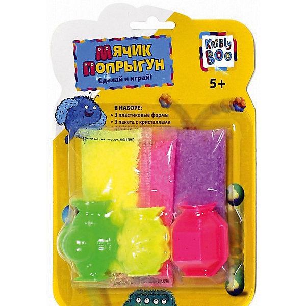Мячик Сделай самПоследняя цена<br>Характеристики товара:<br><br>• размер упаковки: 3 x 17 x 13 см<br>• вес: 70 г<br>• комплектация: 3 пластиковые формы, 3 пакета с гелевыми кристаллами разных цветов<br>• возраст: от пяти лет<br>• упаковка: блистер<br>• страна бренда: Финляндия<br>• страна изготовитель: Китай<br><br>Такой набор станет отличным подарком ребенку - ведь с помощью него можно сделать мячики-попрыгунчики! В набор входят различные предметы и инструкция. Это отличный способ занять ребенка!<br>Создание чего-либо своими руками помогает детям развивать важные навыки и способности, оно активизирует мышление, формирует усидчивость, логику, мелкую моторику и воображение. Изделие производится из качественных и проверенных материалов, которые безопасны для детей.<br><br>Мячик Сделай сам от бренда KriBly Boo можно купить в нашем интернет-магазине.<br><br>Ширина мм: 175<br>Глубина мм: 130<br>Высота мм: 35<br>Вес г: 69<br>Возраст от месяцев: 60<br>Возраст до месяцев: 108<br>Пол: Унисекс<br>Возраст: Детский<br>SKU: 5167842