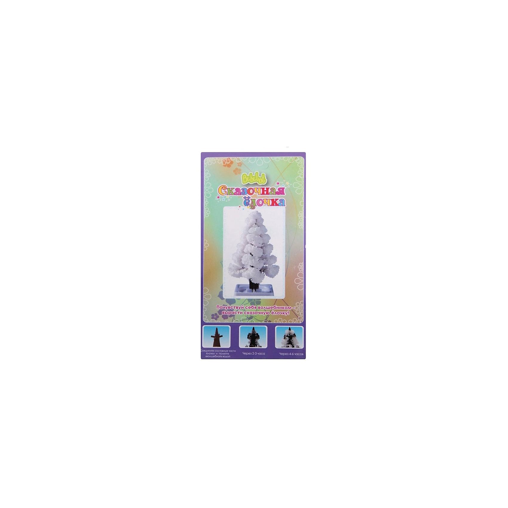 Игровой набор Сказочная ёлочка (белый)Выращивание кристаллов<br>Характеристики товара:<br><br>• размер упаковки: 21x15x11 см<br>• вес: 60 г<br>• комплектация: картонная фигурка, пластиковая ёмкость, раствор пищевой соли<br>• возраст: от пяти лет<br>• упаковка: картон<br>• страна бренда: Китай<br>• страна изготовитель: Китай<br><br>Такой набор станет отличным подарком ребенку - ведь с помощью него из кристаллов можно вырастить ёлочку самому! В набор входят различные предметы и инструкция. Это отличный способ занять ребенка!<br>Создание чего-либо своими руками помогает детям развивать важные навыки и способности, оно активизирует мышление, формирует усидчивость, логику, мелкую моторику и воображение. Изделие производится из качественных и проверенных материалов, которые безопасны для детей.<br><br>Игровой набор Новогодняя ёлочка от бренда Bebelot можно купить в нашем интернет-магазине.<br><br>Ширина мм: 215<br>Глубина мм: 15<br>Высота мм: 107<br>Вес г: 69<br>Возраст от месяцев: 72<br>Возраст до месяцев: 108<br>Пол: Унисекс<br>Возраст: Детский<br>SKU: 5168535