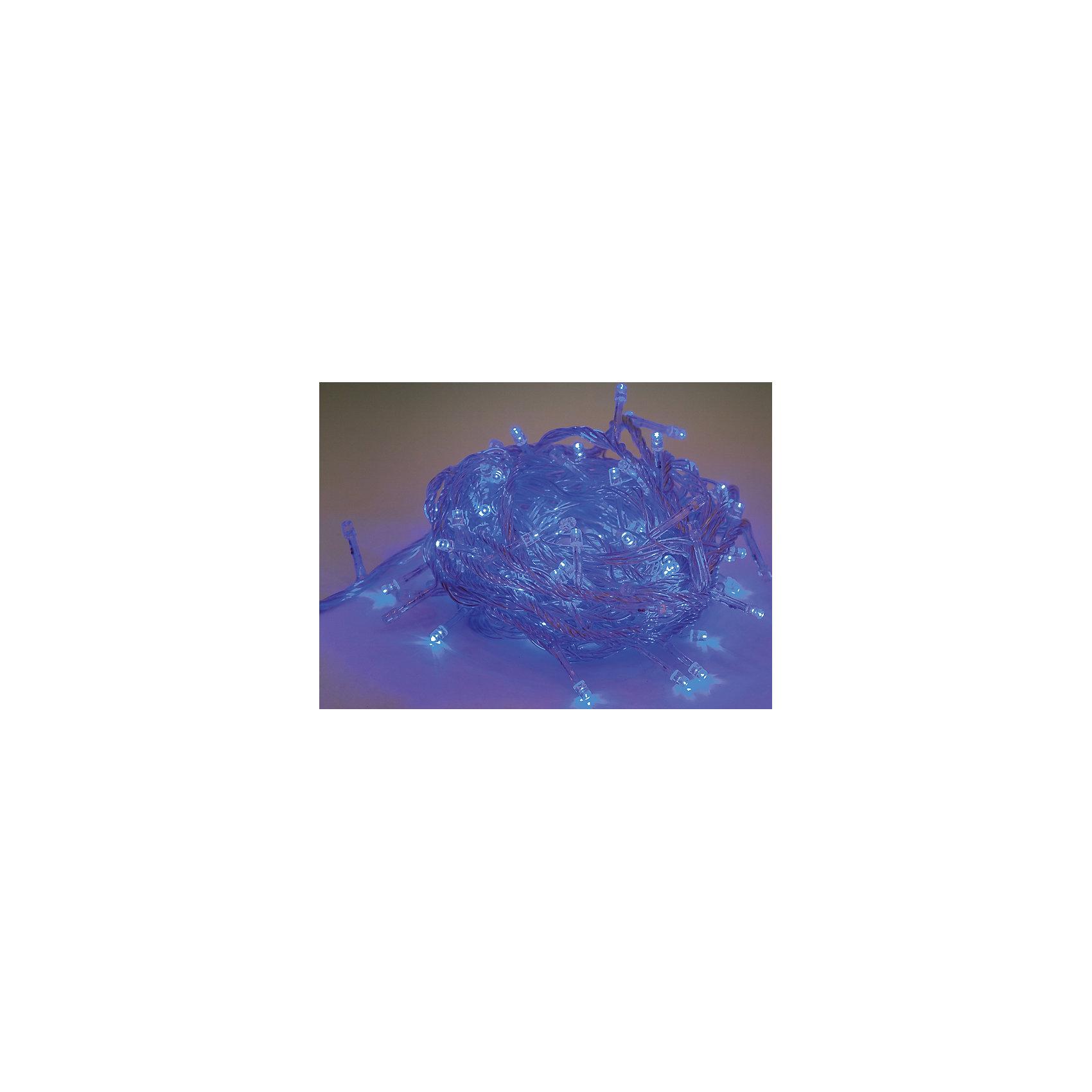 Электрогирлянда 100 LED ламп синего свечения, прозрачный провод 8м, 8 режимовЭлектрические гирлянды – важный атрибут новогодних праздников. С их помощью украшают не только елки, но и окна, подъезды, фасады домов. Гирлянда электрическая состоит из 100 LED-лампочек синего свечения. Прозрачный провод длиной 8 м. Кол-во режимов работы – 8.<br><br>Ширина мм: 140<br>Глубина мм: 85<br>Высота мм: 80<br>Вес г: 0<br>Возраст от месяцев: 72<br>Возраст до месяцев: 540<br>Пол: Унисекс<br>Возраст: Детский<br>SKU: 5171930