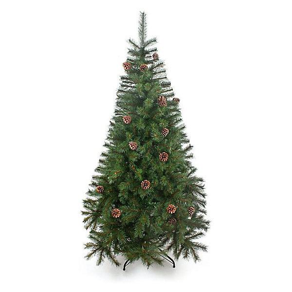 Венская ель с шишками 120 смИскусственные ёлки<br>Материал - ветви из лески. Тип иглы сосна - 3,8 см+ 3,3 см. 2 секции, 238 веточек, диаметр нижней кроны 76,2 см. Подставка - пластик. Натуральные шишки. Комбинация двух цветовых оттенков, легкий просвет иммитации древесины веточки - все это выглядит потрясающе натурально. Густая пушистая крона. При сборке стоит только собрать секции, распрямить ветви и распушить их.<br><br>Ширина мм: 770<br>Глубина мм: 290<br>Высота мм: 230<br>Вес г: 4<br>Возраст от месяцев: 72<br>Возраст до месяцев: 540<br>Пол: Унисекс<br>Возраст: Детский<br>SKU: 5171932