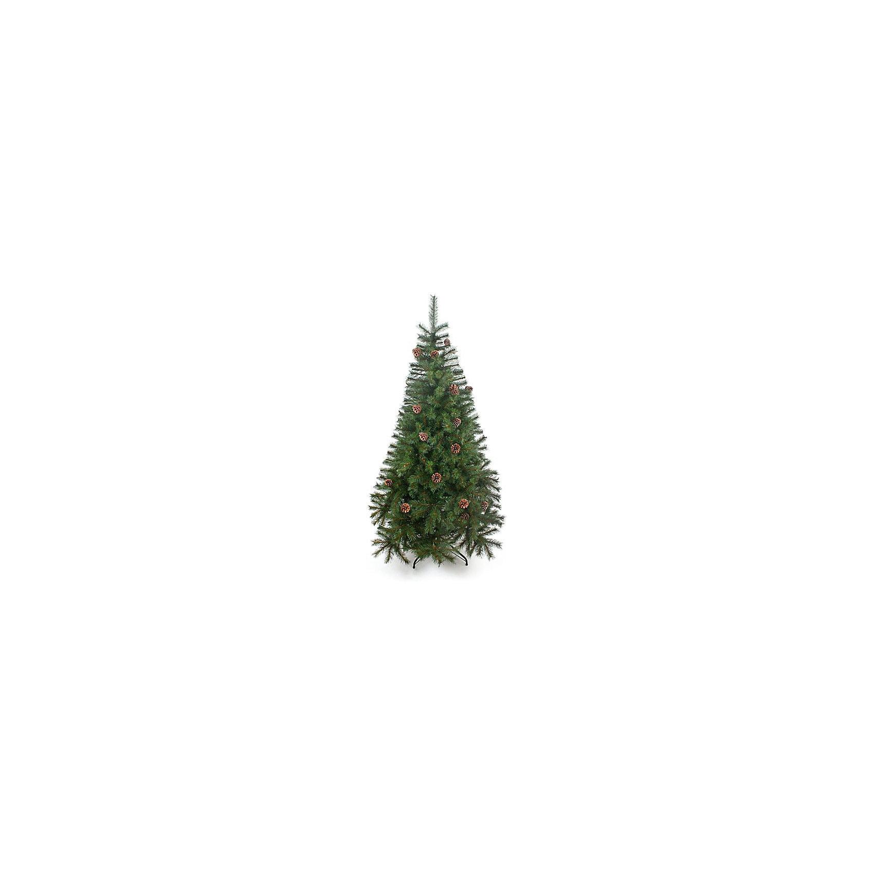 Венская ель с шишками 120 смМатериал - ветви из лески. Тип иглы сосна - 3,8 см+ 3,3 см. 2 секции, 238 веточек, диаметр нижней кроны 76,2 см. Подставка - пластик. Натуральные шишки. Комбинация двух цветовых оттенков, легкий просвет иммитации древесины веточки - все это выглядит потрясающе натурально. Густая пушистая крона. При сборке стоит только собрать секции, распрямить ветви и распушить их.<br><br>Ширина мм: 770<br>Глубина мм: 290<br>Высота мм: 230<br>Вес г: 4<br>Возраст от месяцев: 72<br>Возраст до месяцев: 540<br>Пол: Унисекс<br>Возраст: Детский<br>SKU: 5171932