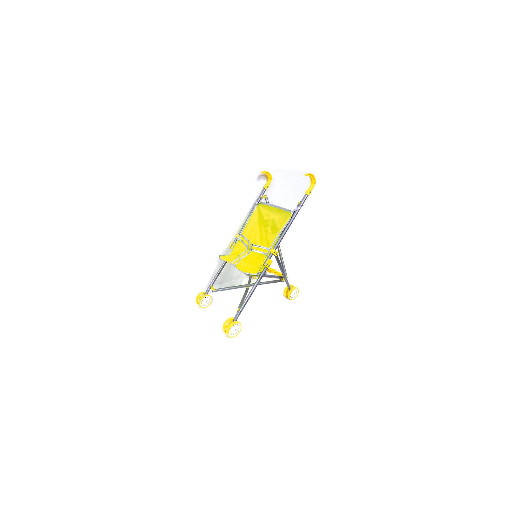 Коляска для куклы, желтый цвет, JUNFA