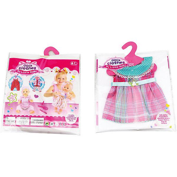 Одежда для кукол: платье, JUNFAОдежда для кукол<br>Характеристики:<br><br>• возраст: от 1 года;<br>• тип игрушки: одежда для кукол;<br>• размер: 25,5х36х1 см.<br>• высота: 40 см;<br>• комплект: платье, плечики;<br>• материал: текстиль, пластик;<br>• бренд: Junfa Toys;<br>• упаковка: пакет;<br>• страна производитель: Китай.<br><br>Одежда для кукол: платье JUNFA – это нарядное платье, сделанное из качественных материалов, которое отлично подходит для разных кукол высотой 40 см. Платье красивого розового цвета украшено круглым отложным воротником и пояском с цветочком.<br><br>Изделие сшито из приятного для тактильных ощущений ребёнка текстиля с качественно обработанными швами. Комплект можно хранить на пластиковой вешалке, которая предусмотрена в комплекте. Переодевая куколку, дети тренируют моторику рук, формируют чувство стиля. Новый наряд позволит обновить куколку, которой девочка играет уже давно. Все материалы безвредные для детей. <br><br>Одежду для кукол: платье JUNFA можно купить в нашем интернет-магазине.<br><br>Ширина мм: 255<br>Глубина мм: 360<br>Высота мм: 10<br>Вес г: 49<br>Возраст от месяцев: 36<br>Возраст до месяцев: 1188<br>Пол: Женский<br>Возраст: Детский<br>SKU: 5173026