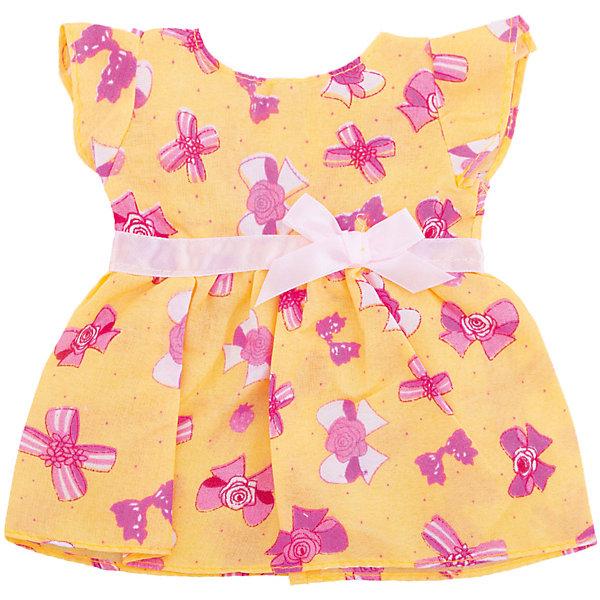 Одежда для кукол: платье, JUNFAОдежда для кукол<br>Характеристики:<br><br>• возраст: от 1 года;<br>• тип игрушки: одежда для кукол;<br>• размер: 24х32х1 см.<br>• высота: 32 см;<br>• комплект: платье, плечики;<br>• материал: текстиль, пластик;<br>• бренд: Junfa Toys;<br>• упаковка: пакет;<br>• страна производитель: Китай.<br><br>Одежда для кукол: платье JUNFA – это нарядное платье, сделанное из качественных материалов, которое отлично подходит для разных кукол высотой 32 см. Платье красивого розового цвета украшает атласный поясок с бантиком на талии. <br><br>Изделие сшито из приятного для тактильных ощущений ребёнка текстиля с качественно обработанными швами. Комплект можно хранить на пластиковой вешалке, которая предусмотрена в комплекте. Переодевая куколку, дети тренируют моторику рук, формируют чувство стиля. Новый наряд позволит обновить куколку, которой девочка играет уже давно. Все материалы безвредные для детей. <br><br>Одежду для кукол: платье JUNFA можно купить в нашем интернет-магазине.<br>Ширина мм: 240; Глубина мм: 10; Высота мм: 320; Вес г: 16; Возраст от месяцев: 36; Возраст до месяцев: 1188; Пол: Женский; Возраст: Детский; SKU: 5173027;