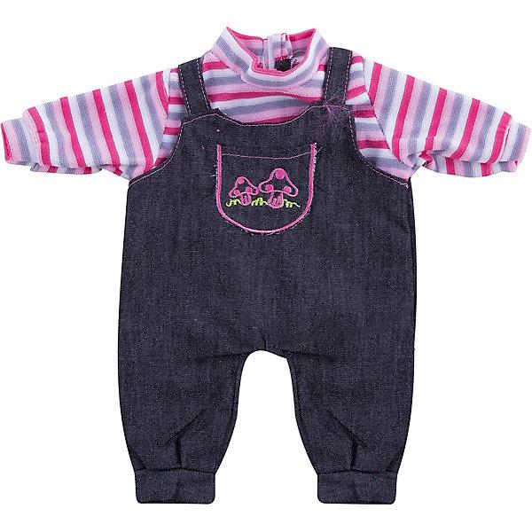 Одежда для кукол: джинсовый костюмчик, JUNFAОдежда для кукол<br>Характеристики:<br><br>• возраст: от 1 года;<br>• тип игрушки: одежда для кукол;<br>• размер: 15х32х1 см.<br>• высота: 32 см;<br>• комплект: кофточка, комбинезон, вешалка;<br>• материал: текстиль, пластик;<br>• бренд: Junfa Toys;<br>• упаковка: пакет;<br>• страна производитель: Китай.<br><br>Одежда для кукол: джинсовый костюмчик JUNFA – это красивый костюмчик, сделанный из качественных материалов, который отлично подходит для разных кукол высотой 32 см. Костюмчик с удобным комбинезоном и яркой кофточкой в полоску пополнит гардероб маленькой куклы и порадует девочку.  А декоративный принт с грибочками на кармашке сделает внешний вид куклы еще более модным и стильным<br><br>Одежда для кукол выполнена из приятного на ощупь текстиля высокого качества, а надёжные аккуратные швы обеспечат изделию долгий срок службы. В комплекте также предусмотрена яркая вешалка, с помощью которой малышкам будет удобнее хранить наряд в шкафу. Также набор можно стирать в щадящем режиме.<br><br>Переодевая куколку, дети тренируют моторику рук, формируют чувство стиля. Новый наряд позволит обновить куколку, которой девочка играет уже давно. Все материалы безвредные для детей. <br><br>Одежду для кукол: джинсовый костюмчик JUNFA можно купить в нашем интернет-магазине.<br><br>Ширина мм: 250<br>Глубина мм: 10<br>Высота мм: 360<br>Вес г: 88<br>Возраст от месяцев: 36<br>Возраст до месяцев: 1188<br>Пол: Женский<br>Возраст: Детский<br>SKU: 5173028