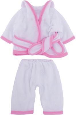Одежда для кукол: белый банный халатик, JUNFA фото-1